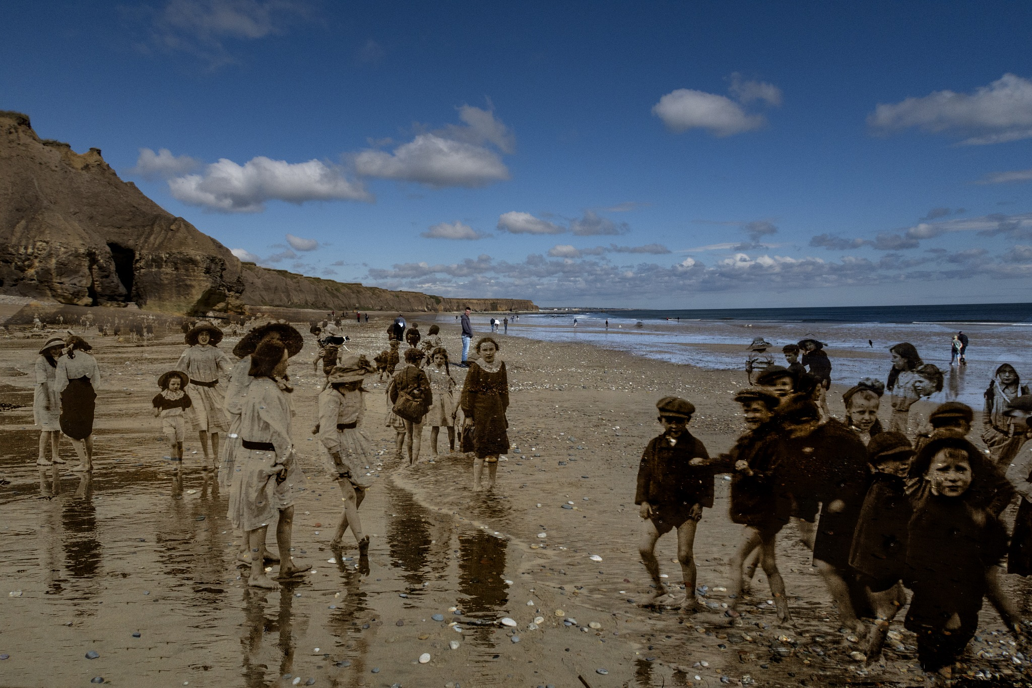 Ghosts from the past enjoying the beach by ianmpeele