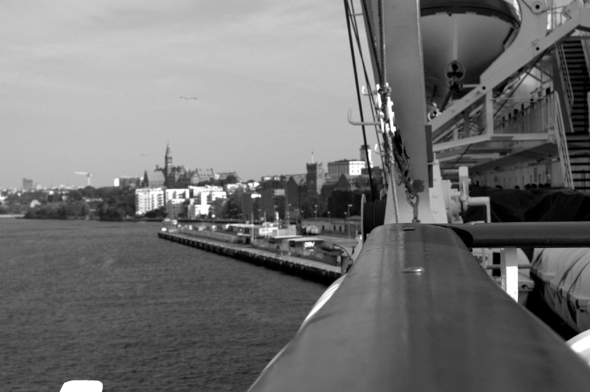 boat view Slussen by InaApla