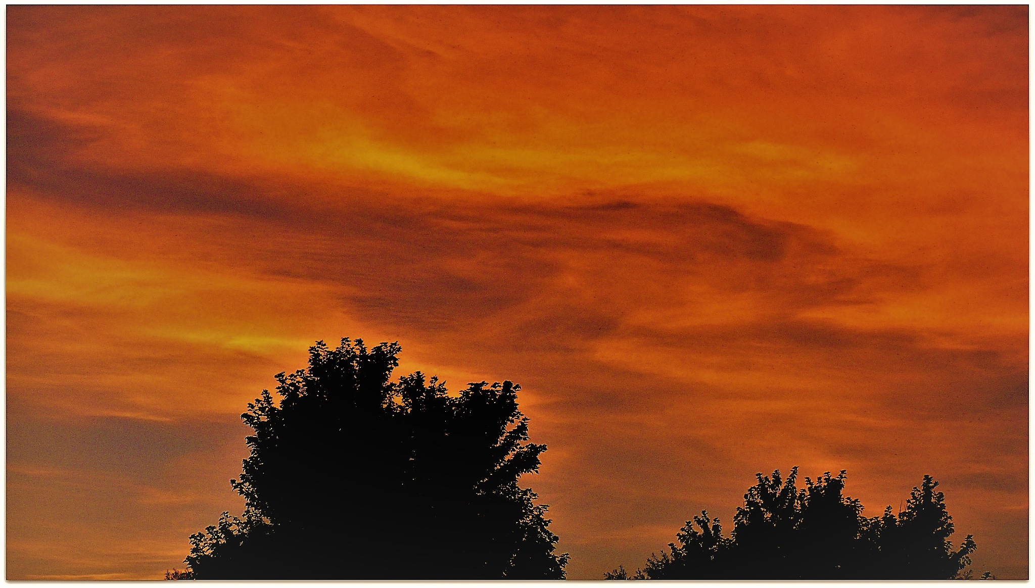 Sunset on the Eastern Sky  (sometimes the  sunset reflects on the Eastern sky) by maria.telegdy