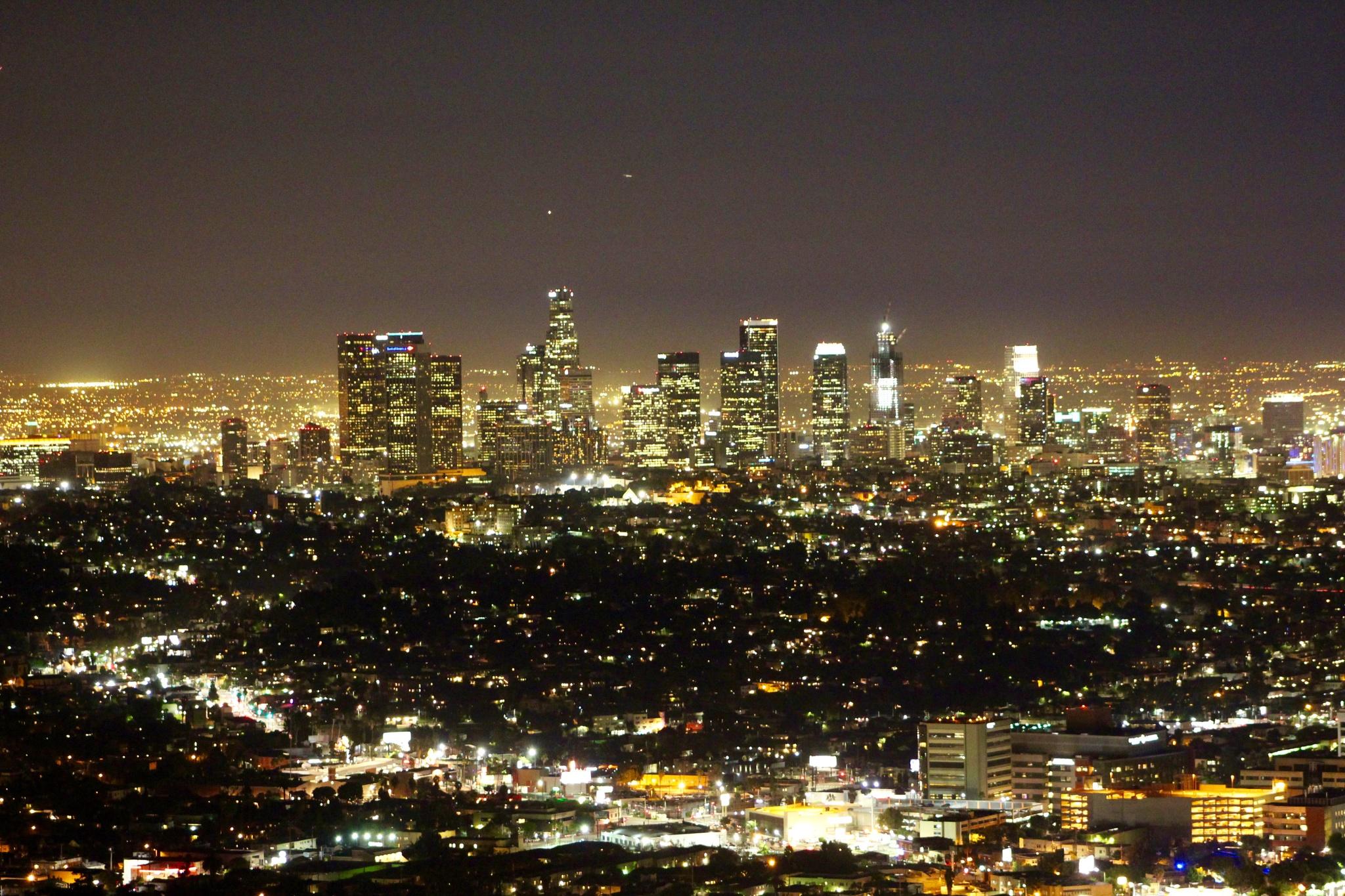 Los Angeles at night by Leunam Acevedo