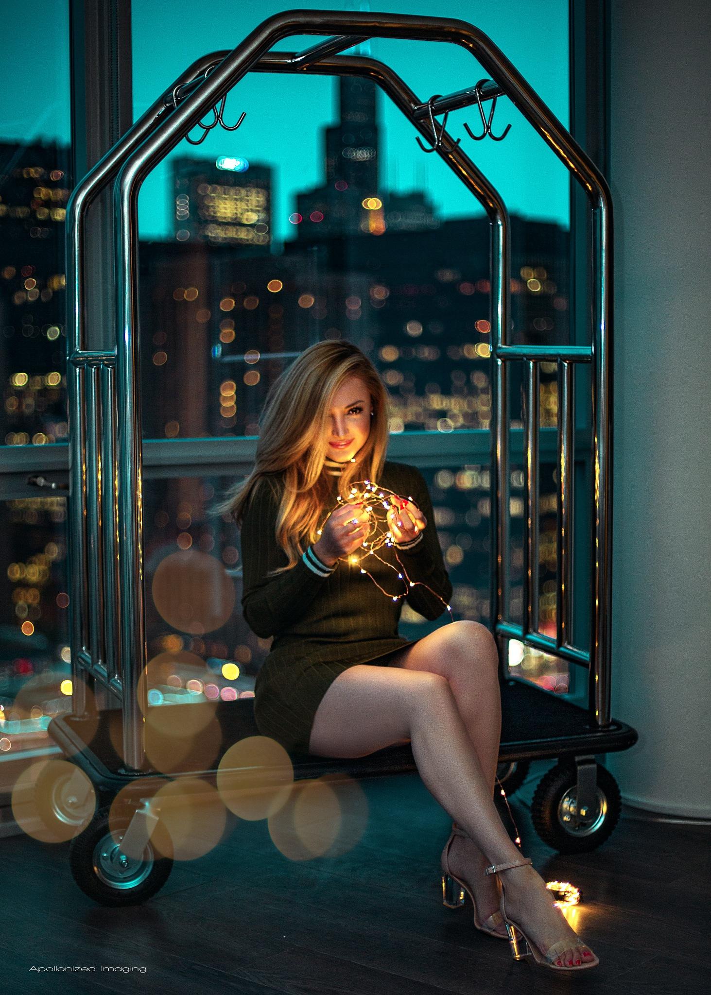 Photo in Portrait #bokeh #buildings #night #window #beautiful
