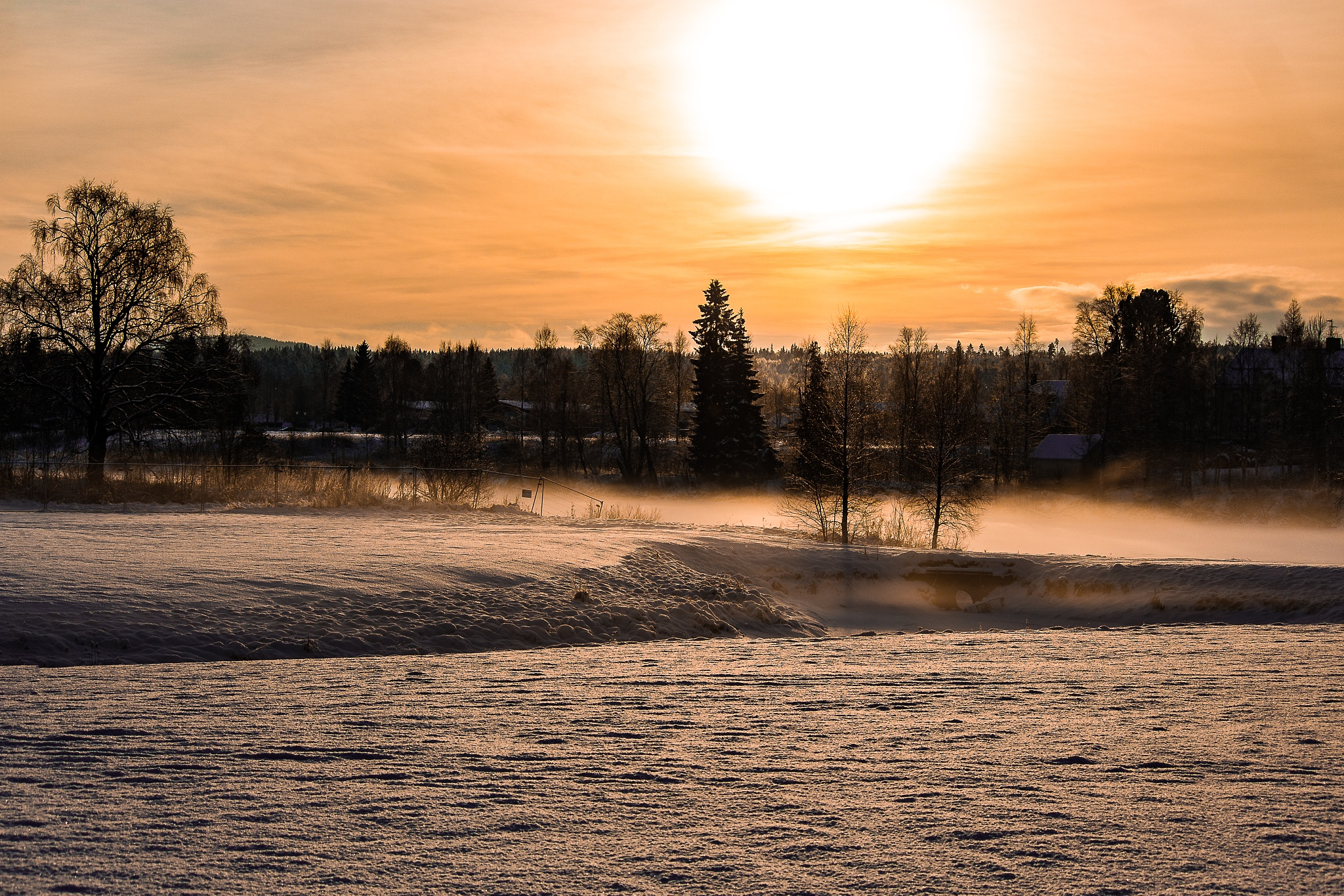 Photo in Nature #river #snow #whiteout #snow smoke
