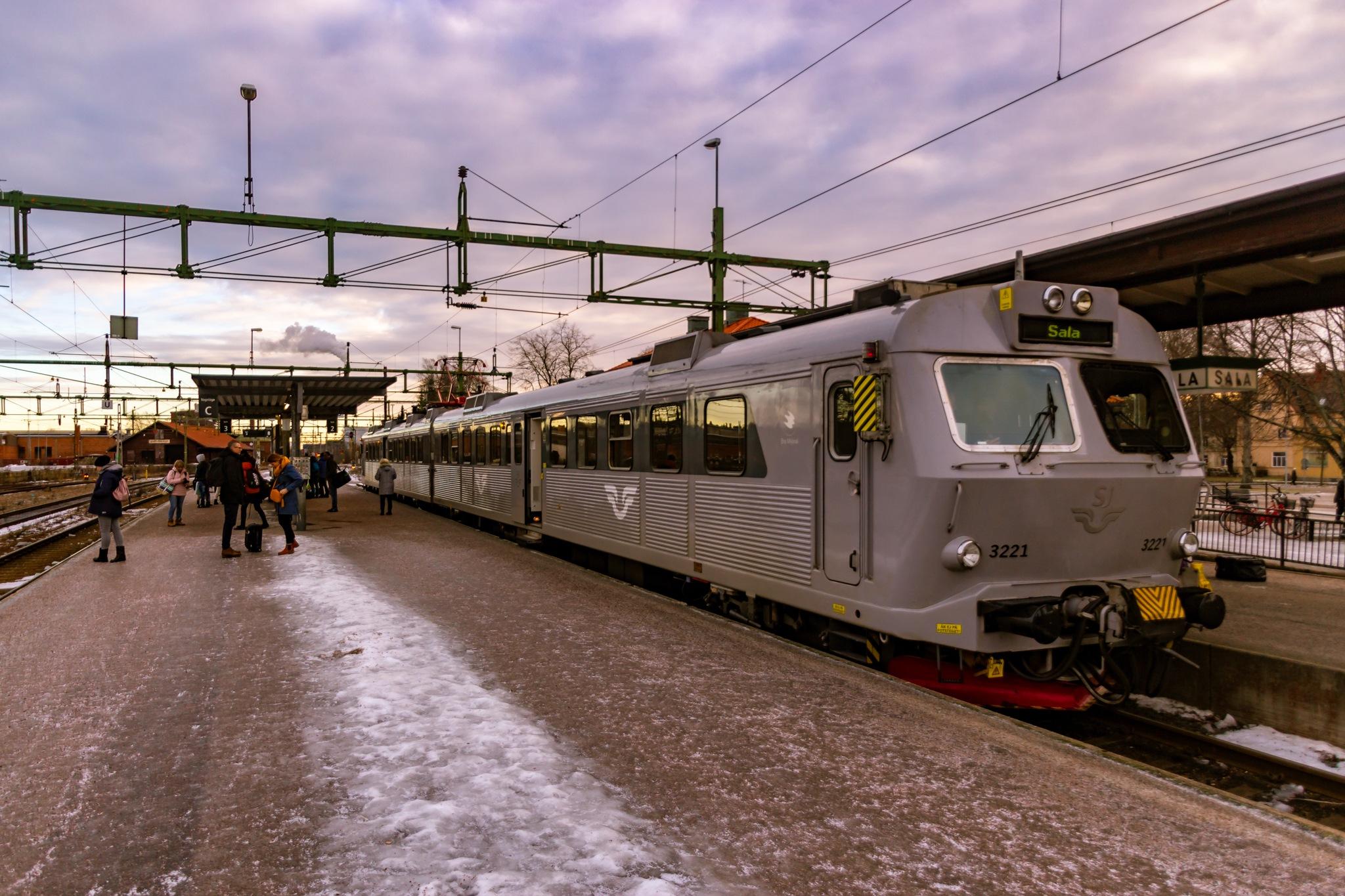 Sala Railway station by Carl Hult