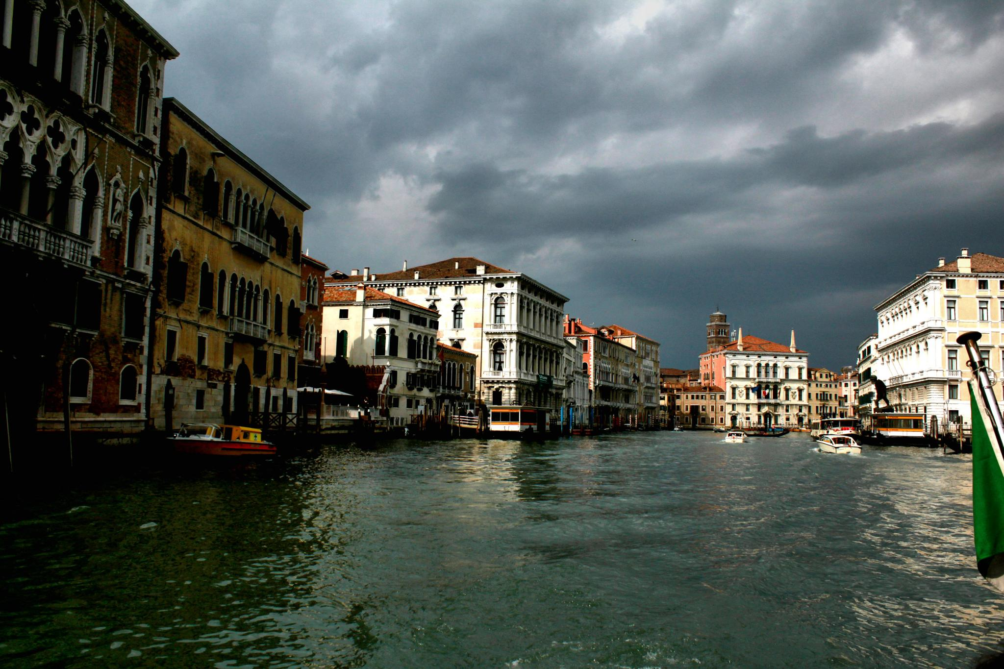 Overcast on the Grand Canal by charles desrosiers