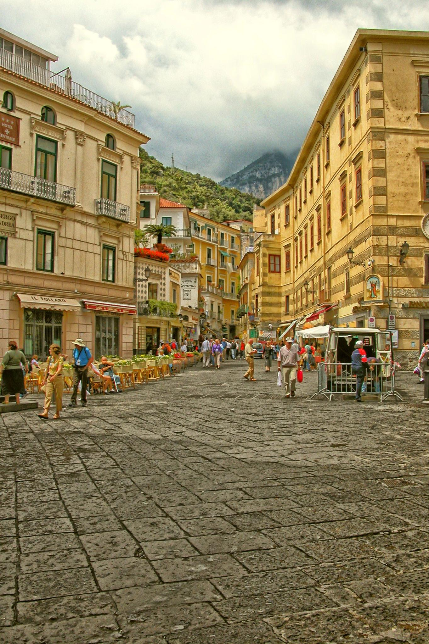 Main Street Amalfi by charles desrosiers