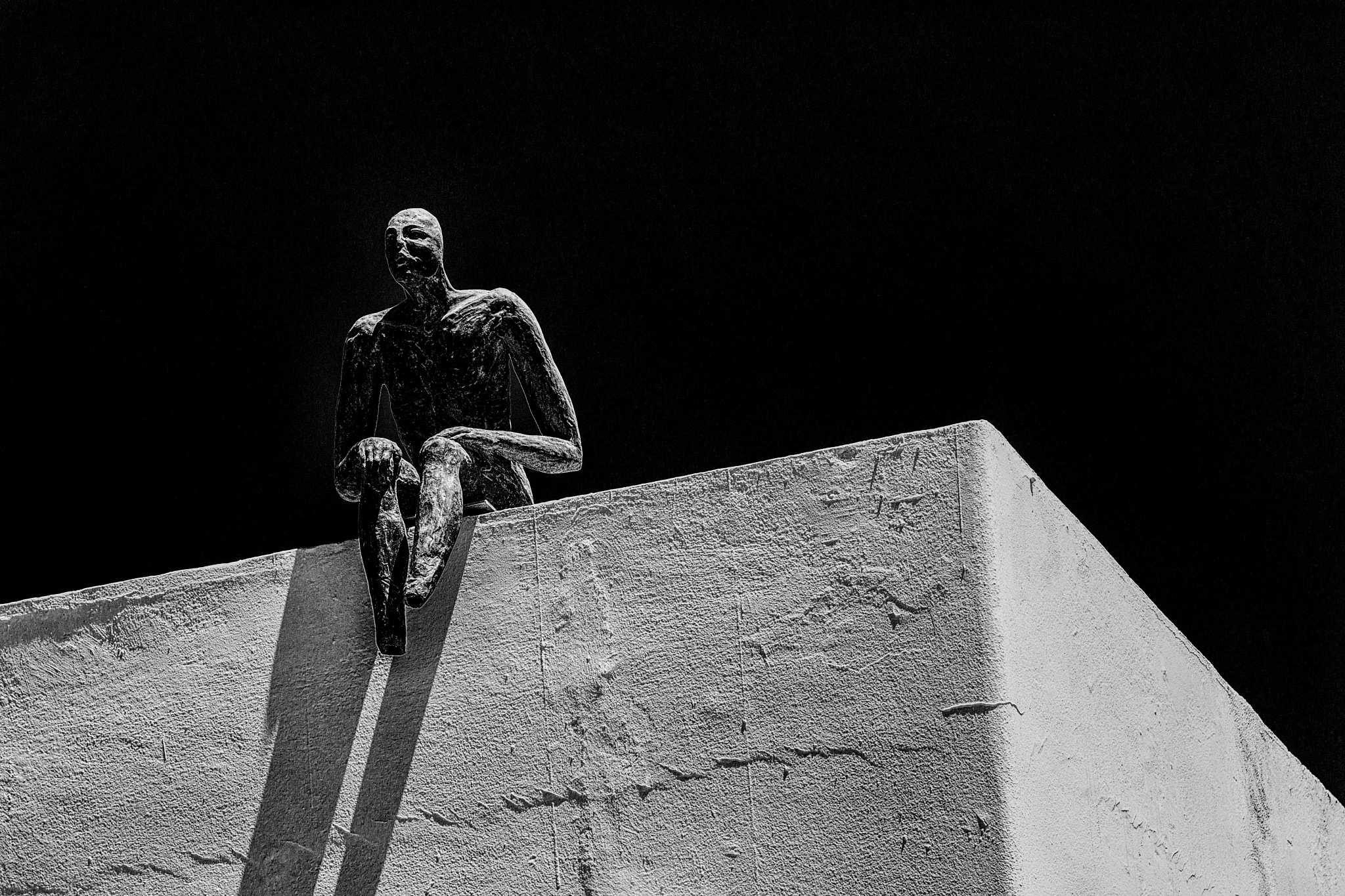 Wall Sitter by charles desrosiers