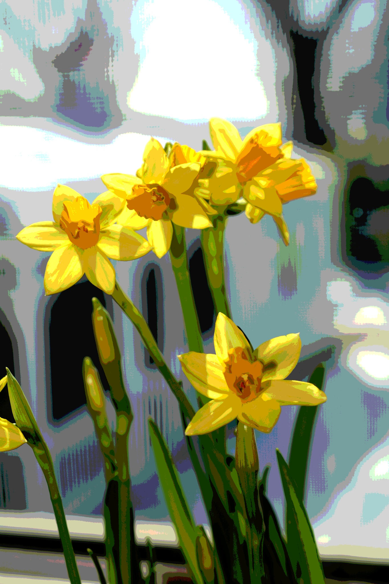 daffodil painted by pgavin5000