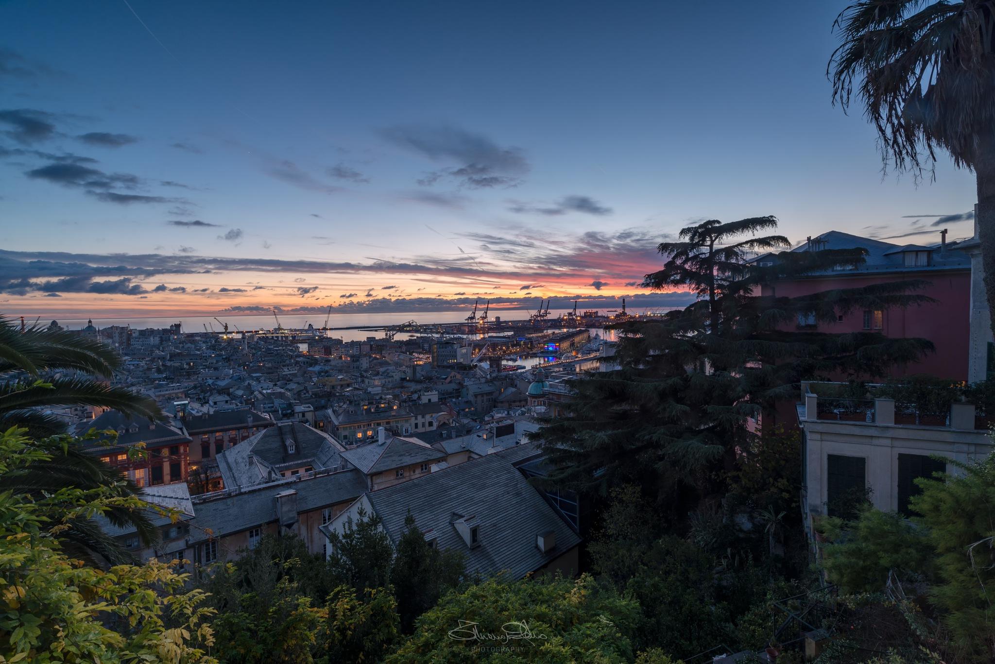 Good evening Genova by Tiziano Valeno