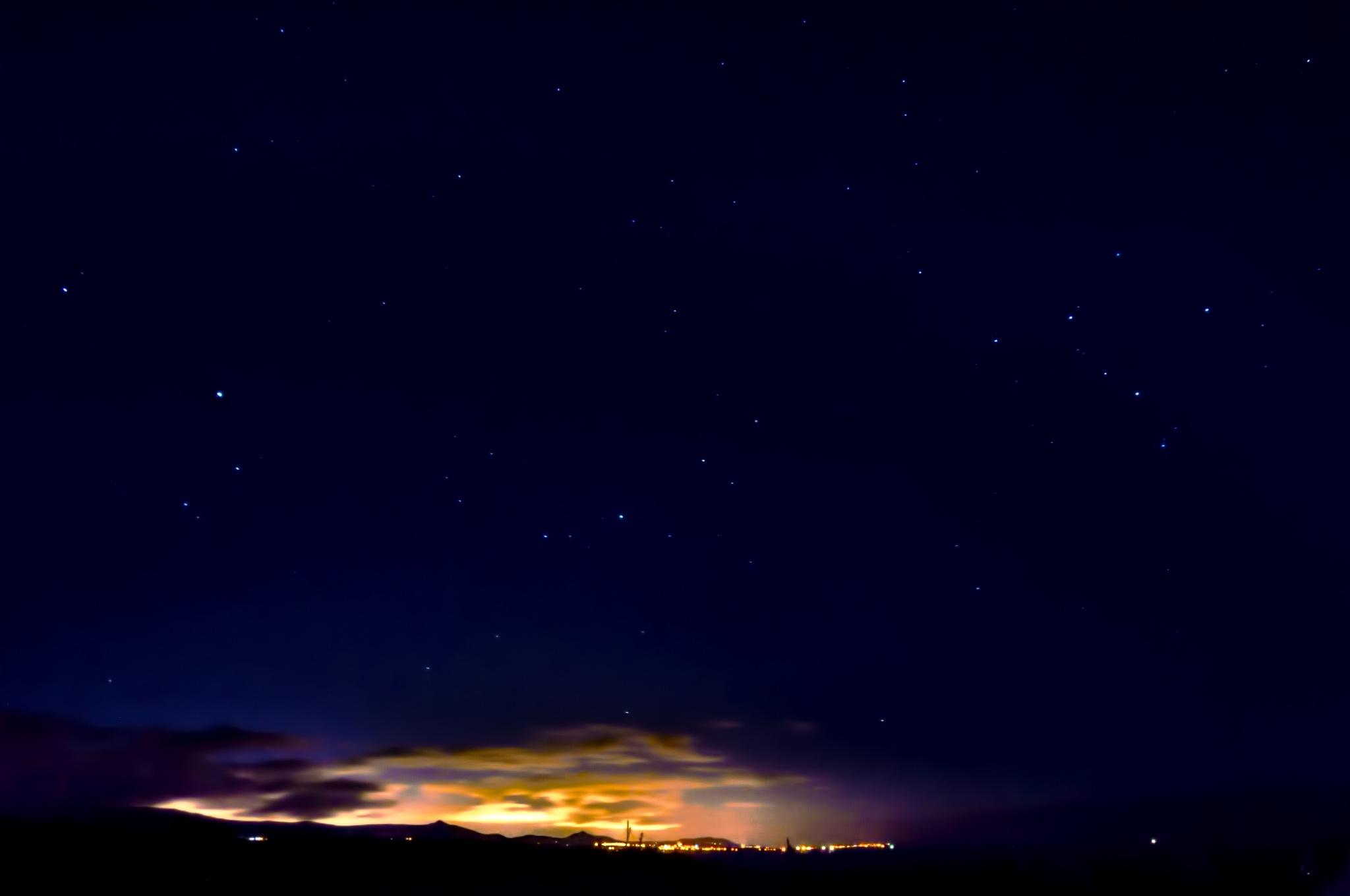 Wicklow Coast - Night Time Shot Looking towards Dublin by Derek Clarke