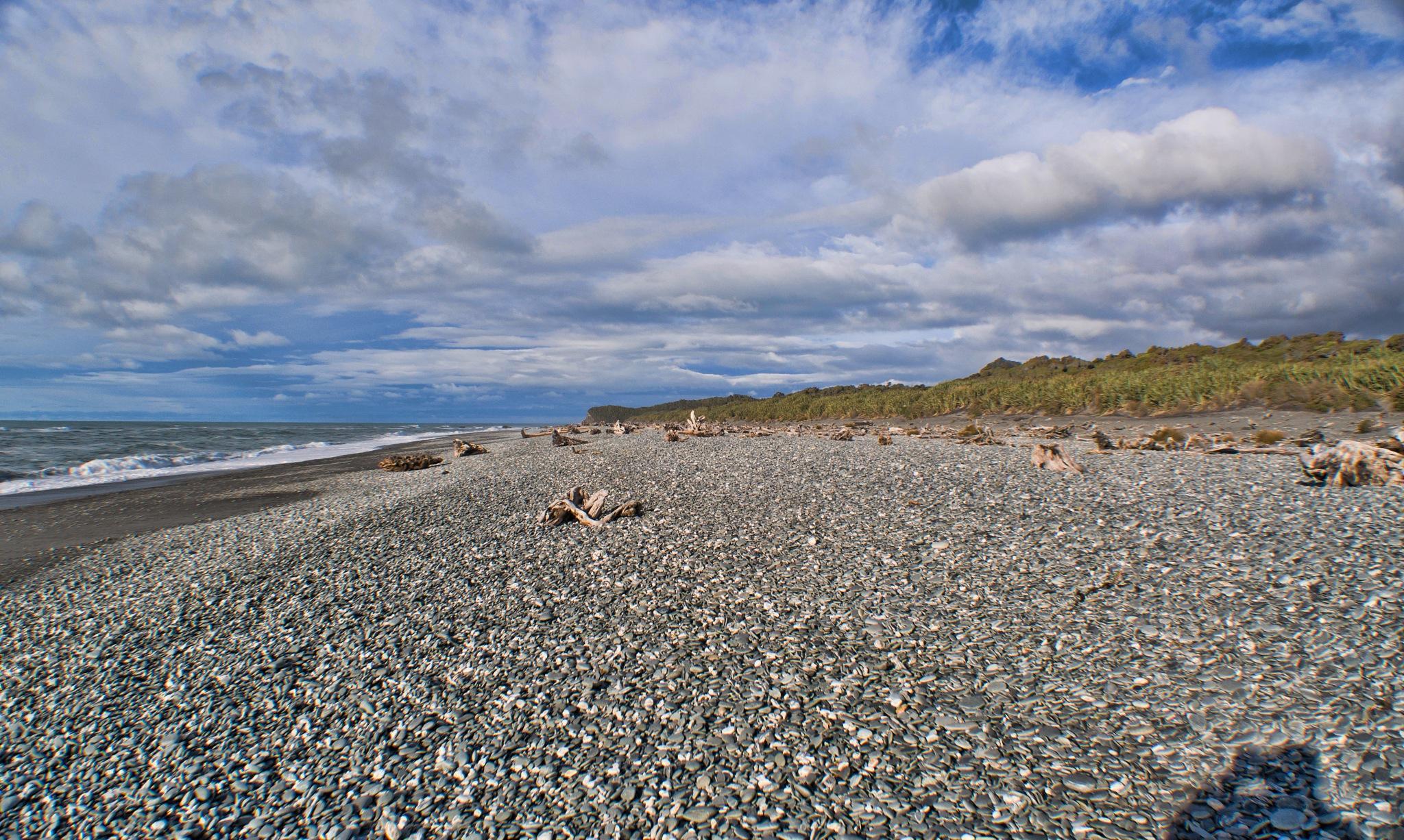 Beach Walk by Derek Clarke