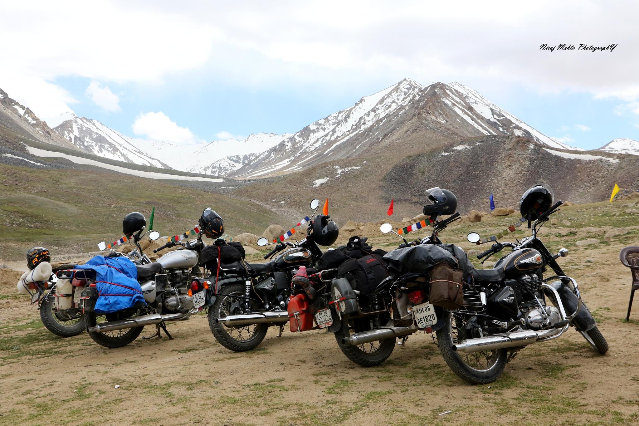 Our Bikes @ Leh Ladakh............. by NIRAJ MEHTA