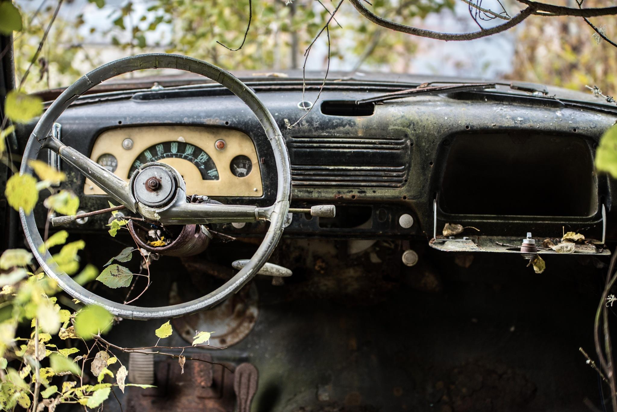 Car Graveyard by marie dywling