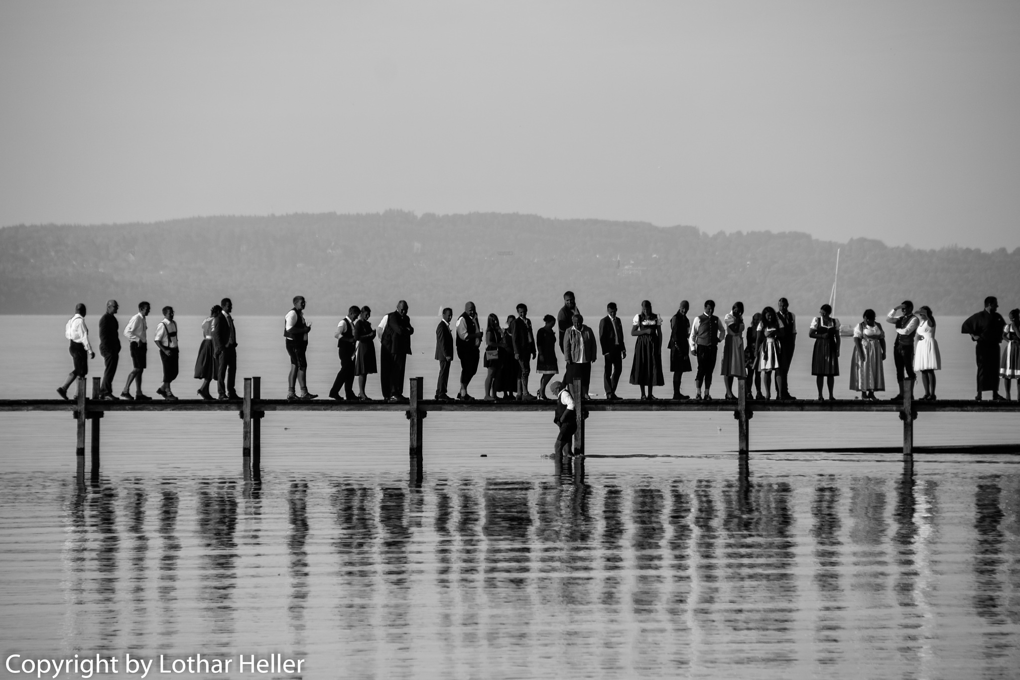 BW at the Lake by Lothar Heller