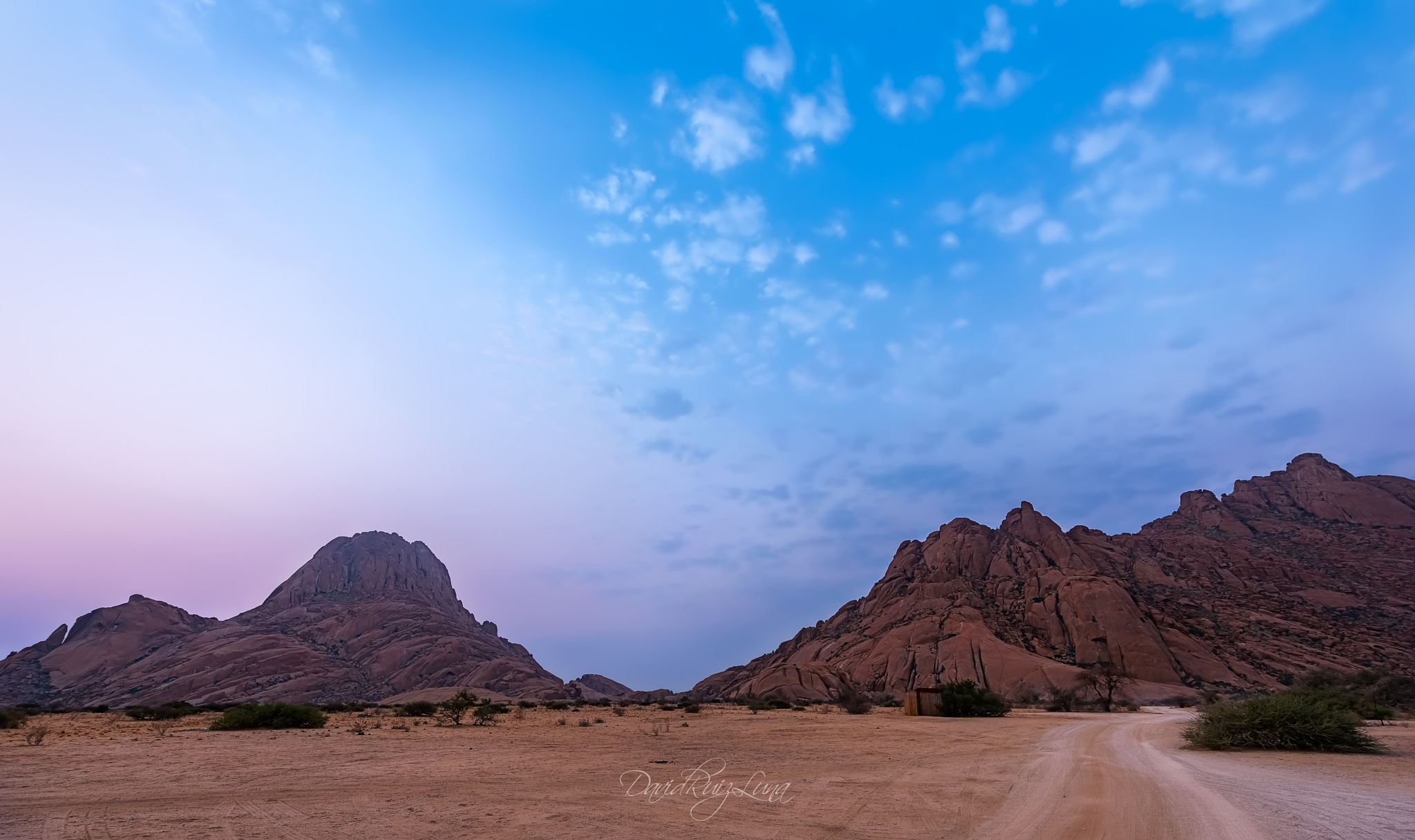 Blue hour in Spitzkoppe by druizluna