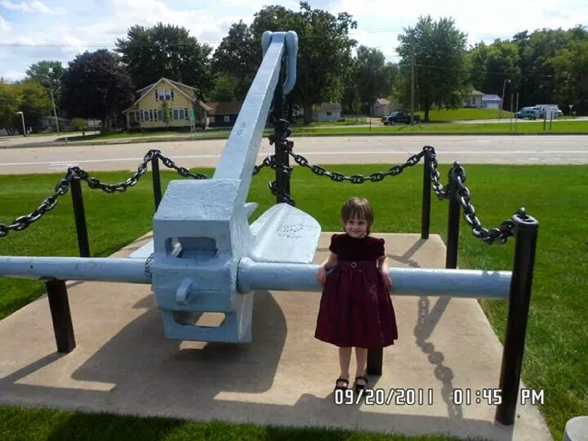 Large ship  anchor by jessica.k.whitehead1