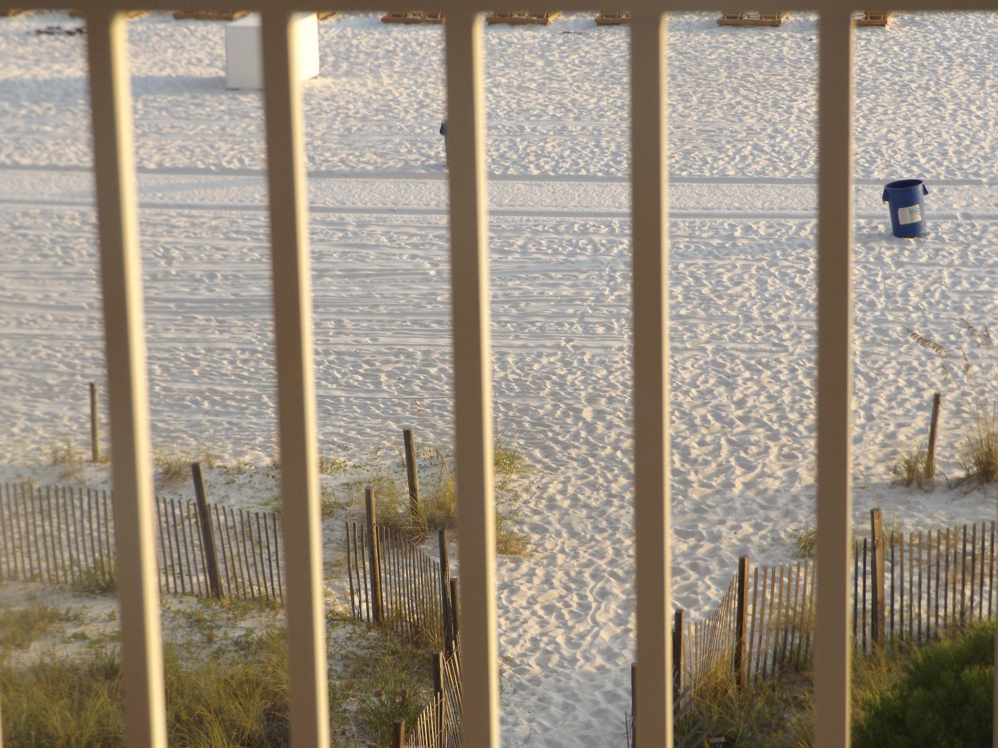 Balcony at the beach by lisarobertsbell