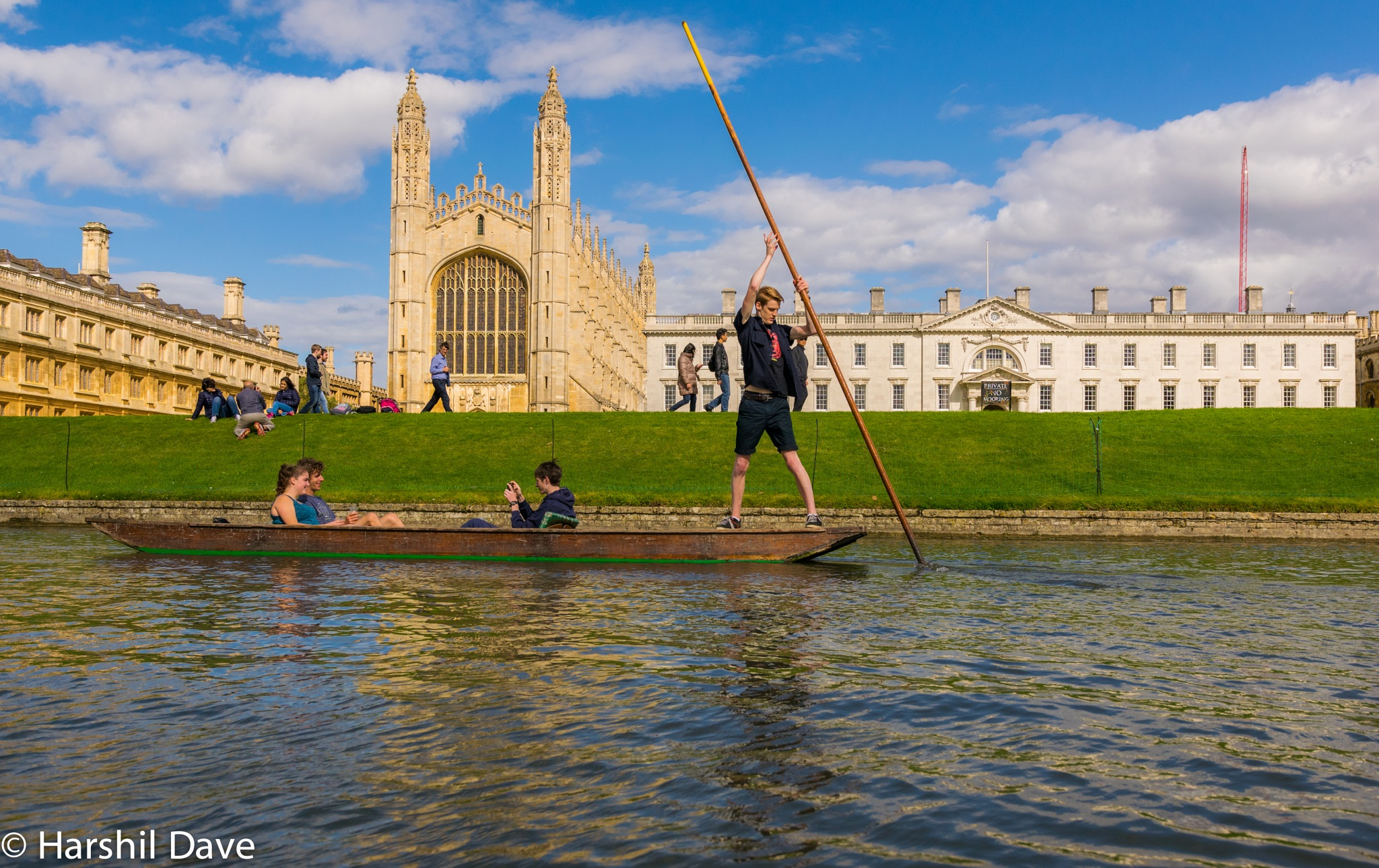 Punting in Cambridge by Harshil Dave