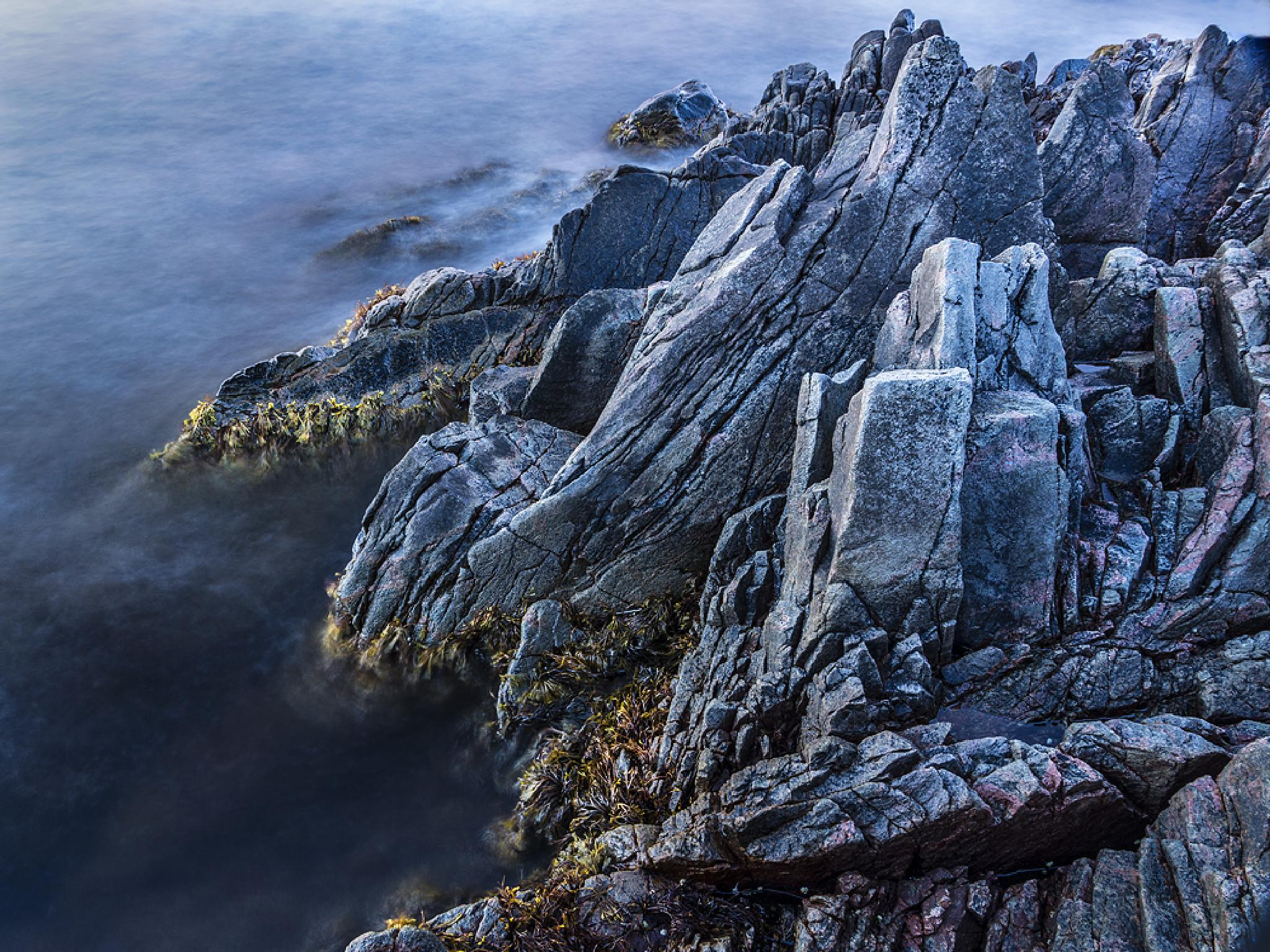 Rocks in blue by Peter Samuelsson