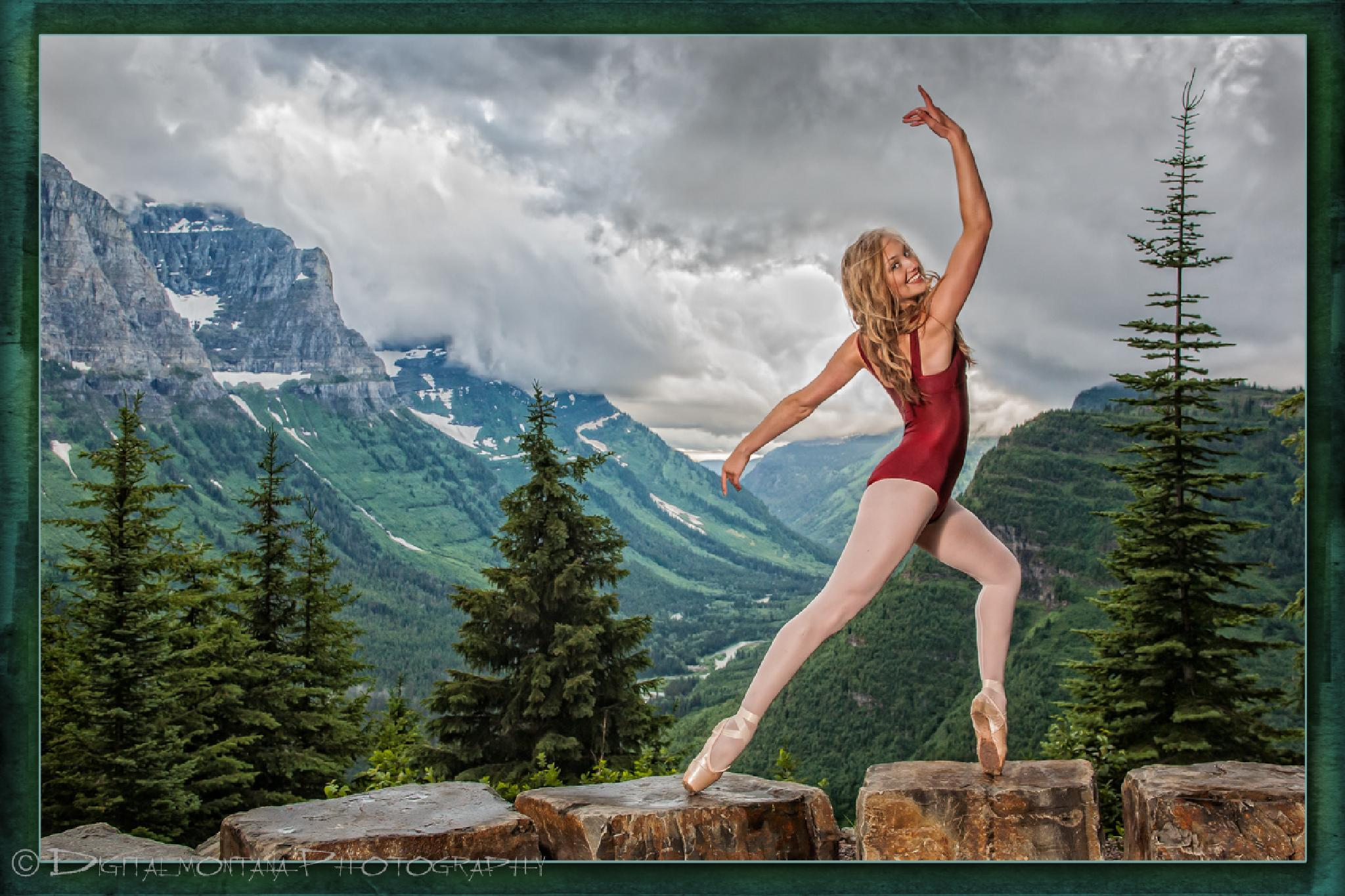 Mountain Top Ballerina by DeEldor