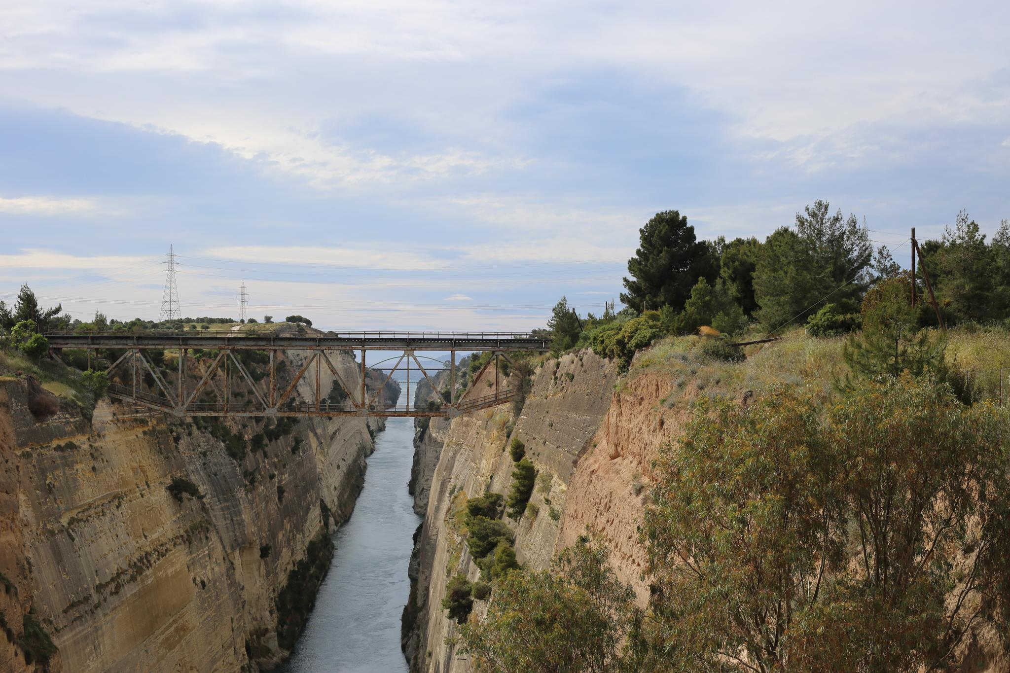 Photo in Landscape #greece #corinth canal #deep #isthmus #saronic gulf