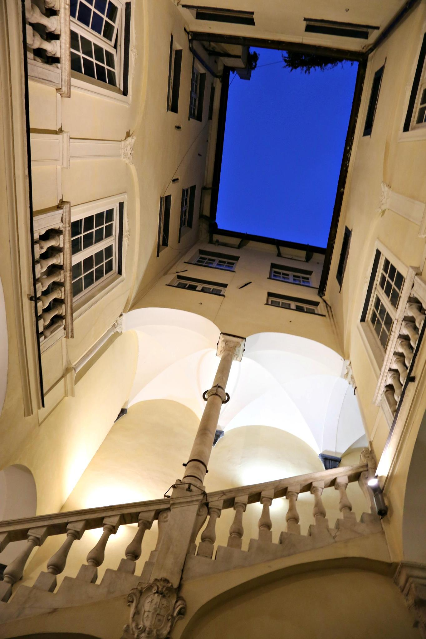 Interior courtyard in Genoa by Cora