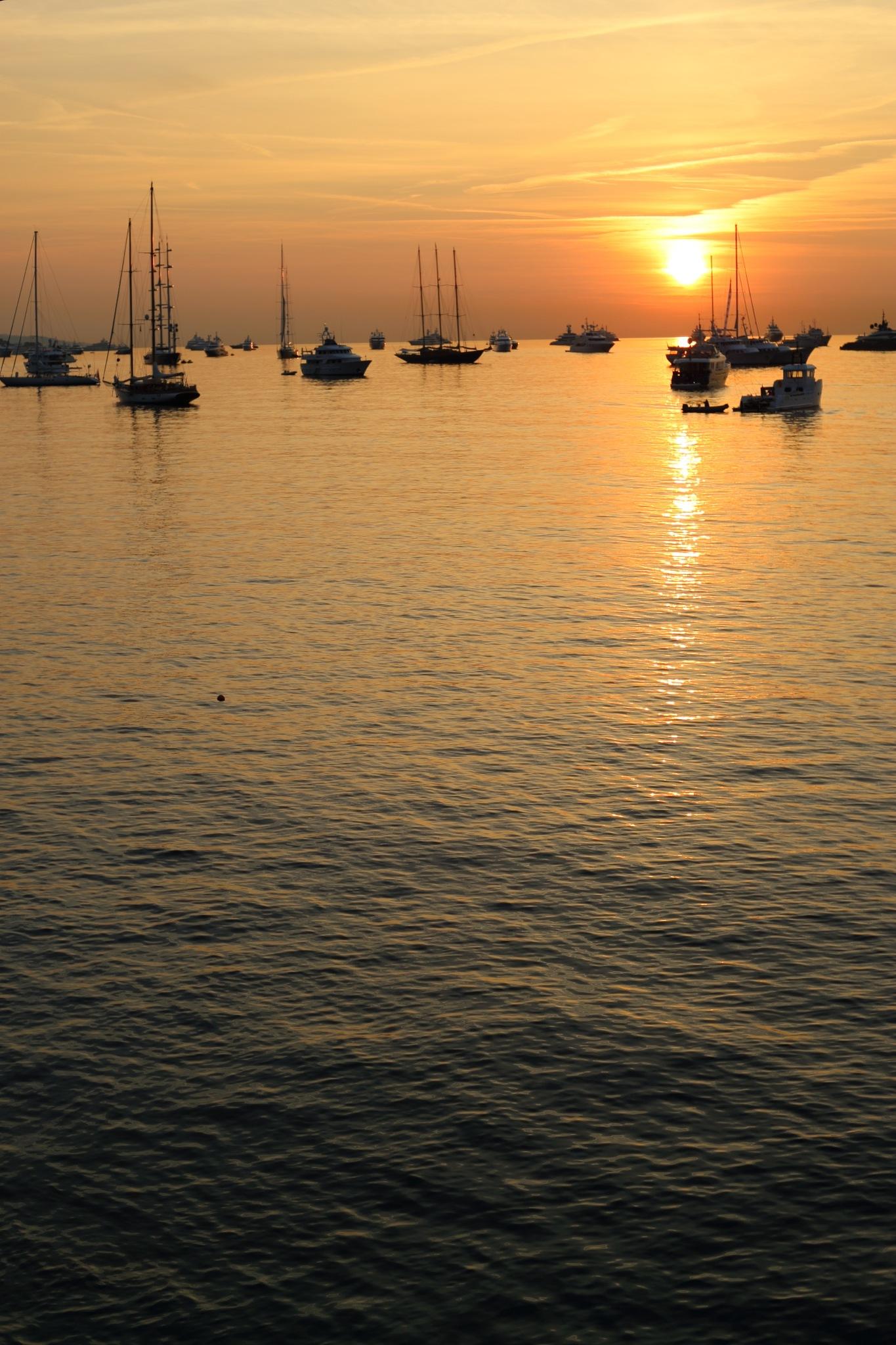 Sunrise, sails, sea... by Cora