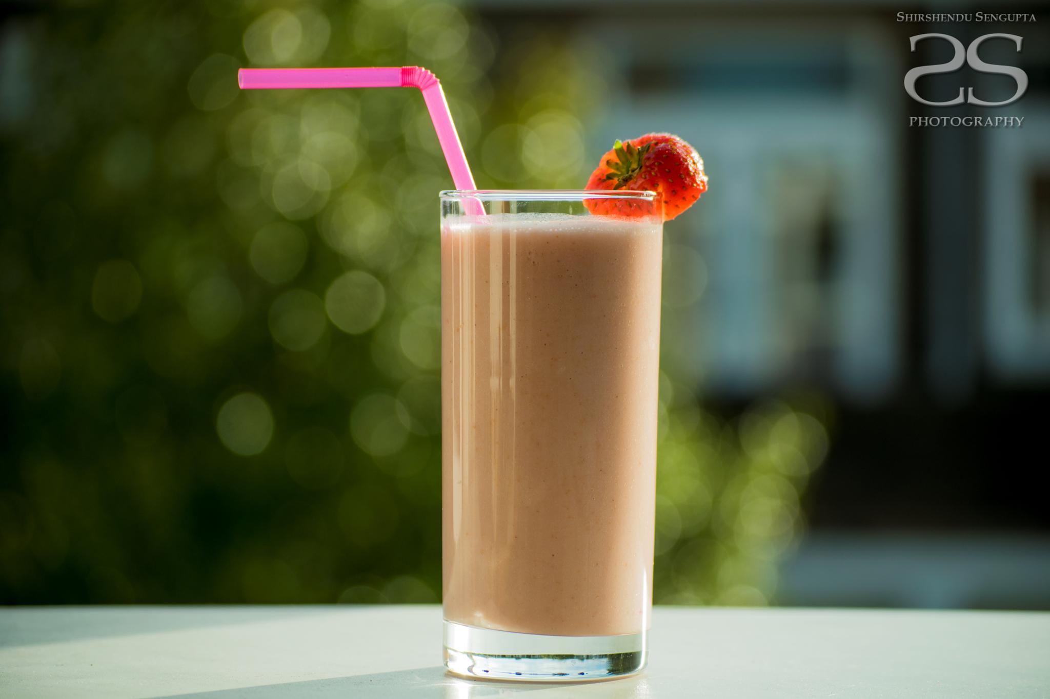 Bokeh-ed with Strawberry Smoothie by shirshendu.sengupta.9