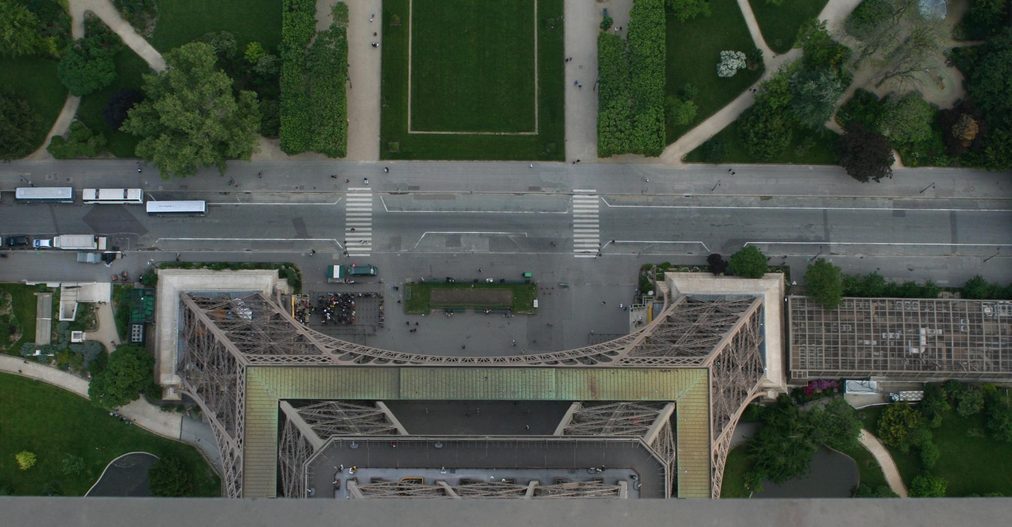 Eiffel Tower - View down from the top by MyBrokenJeep