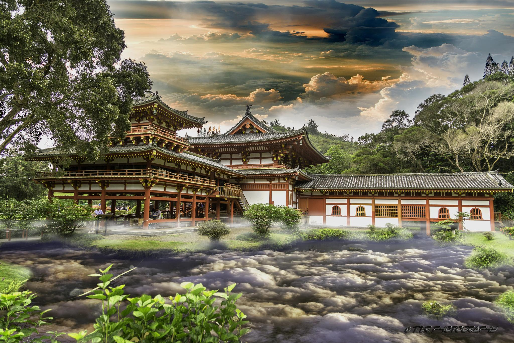 Temple Amongst The Clouds by Tzr Photography