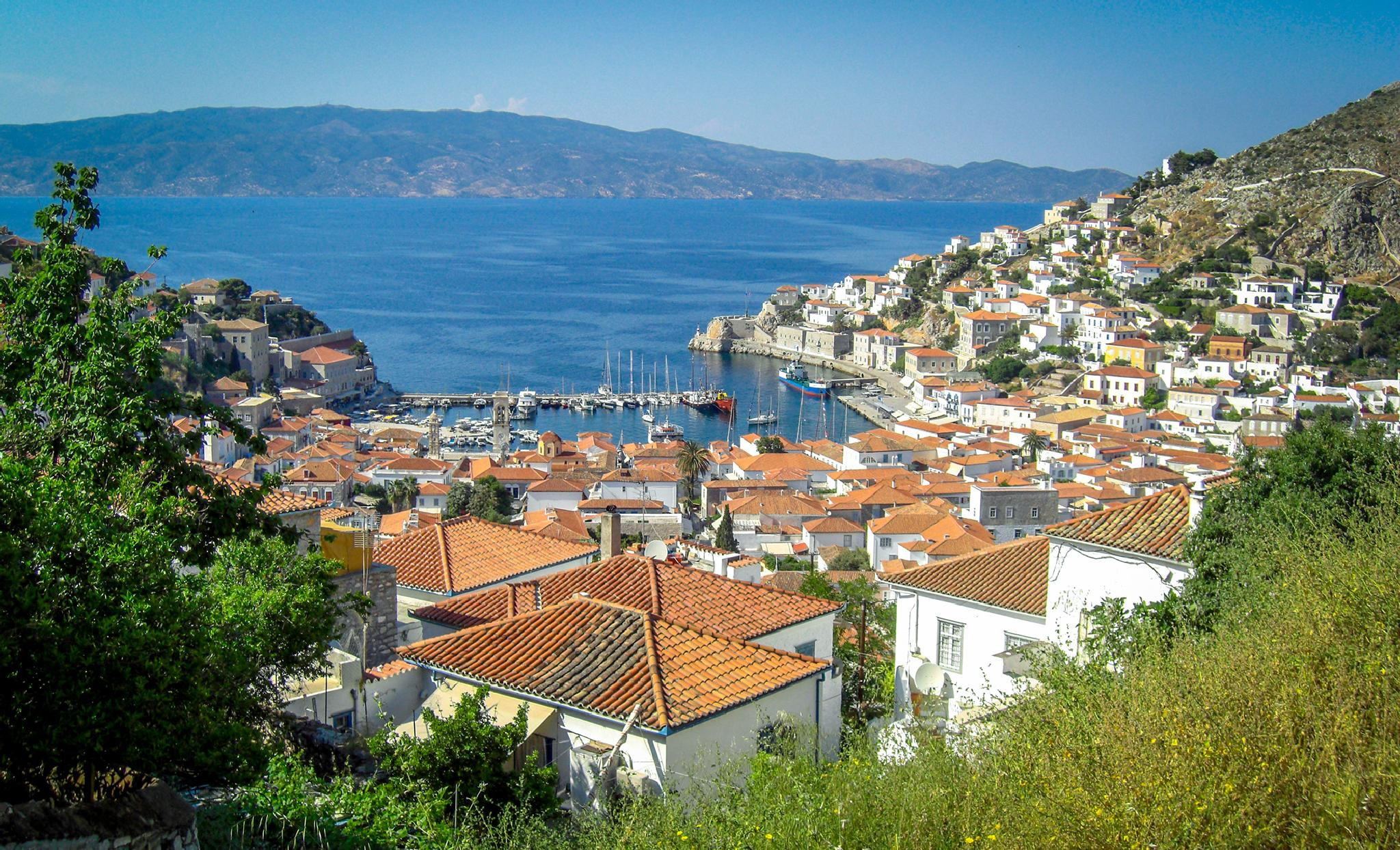Port of Hydra from Above by tedurquhart1