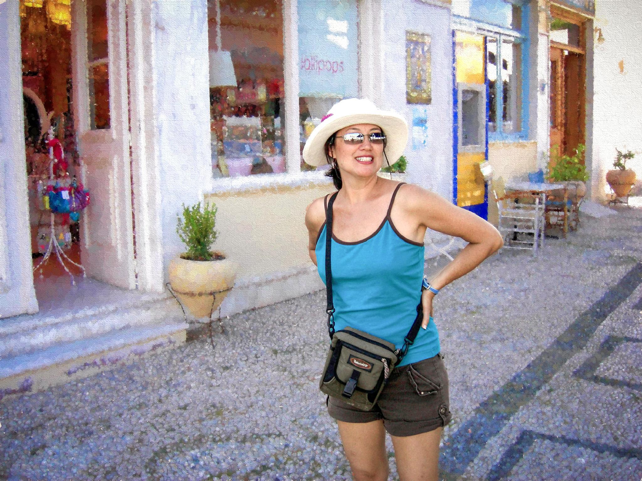 Peg the Tourist - Spetses, Greece by tedurquhart1