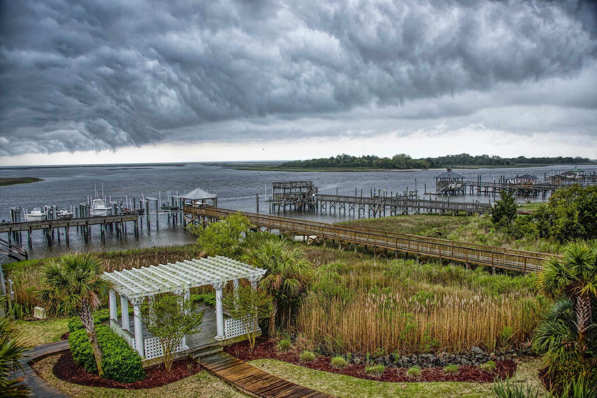 Storm passing over Intercoastal Waterway, Wilmington NC by tedurquhart1