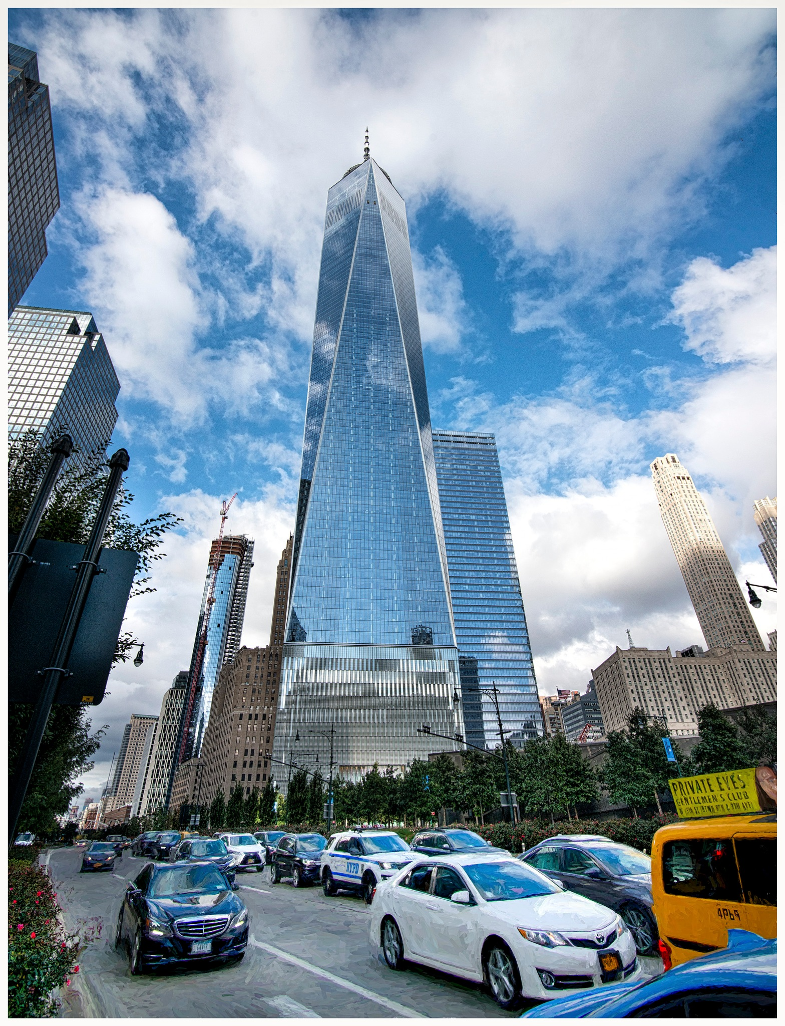 Freedom Tower and Traffic - NYC by tedurquhart1