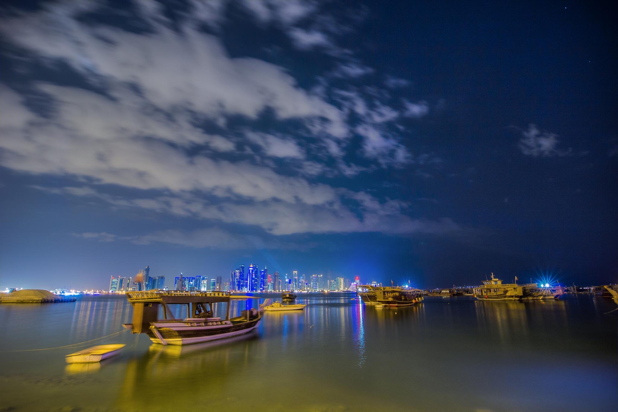 Doha Corniche by Shamal Majeed