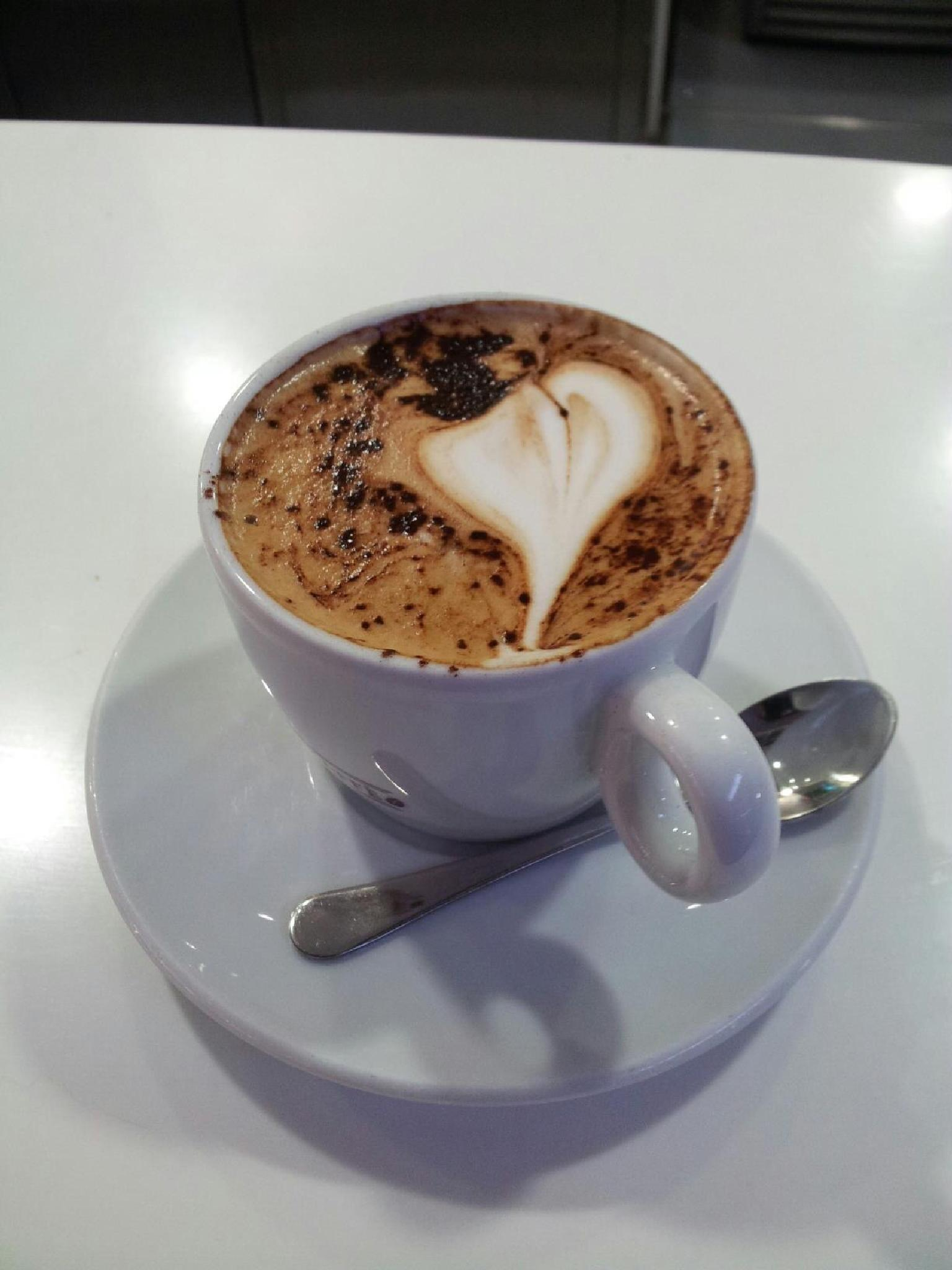 A cup of Cappuccino  by johnny.kariono
