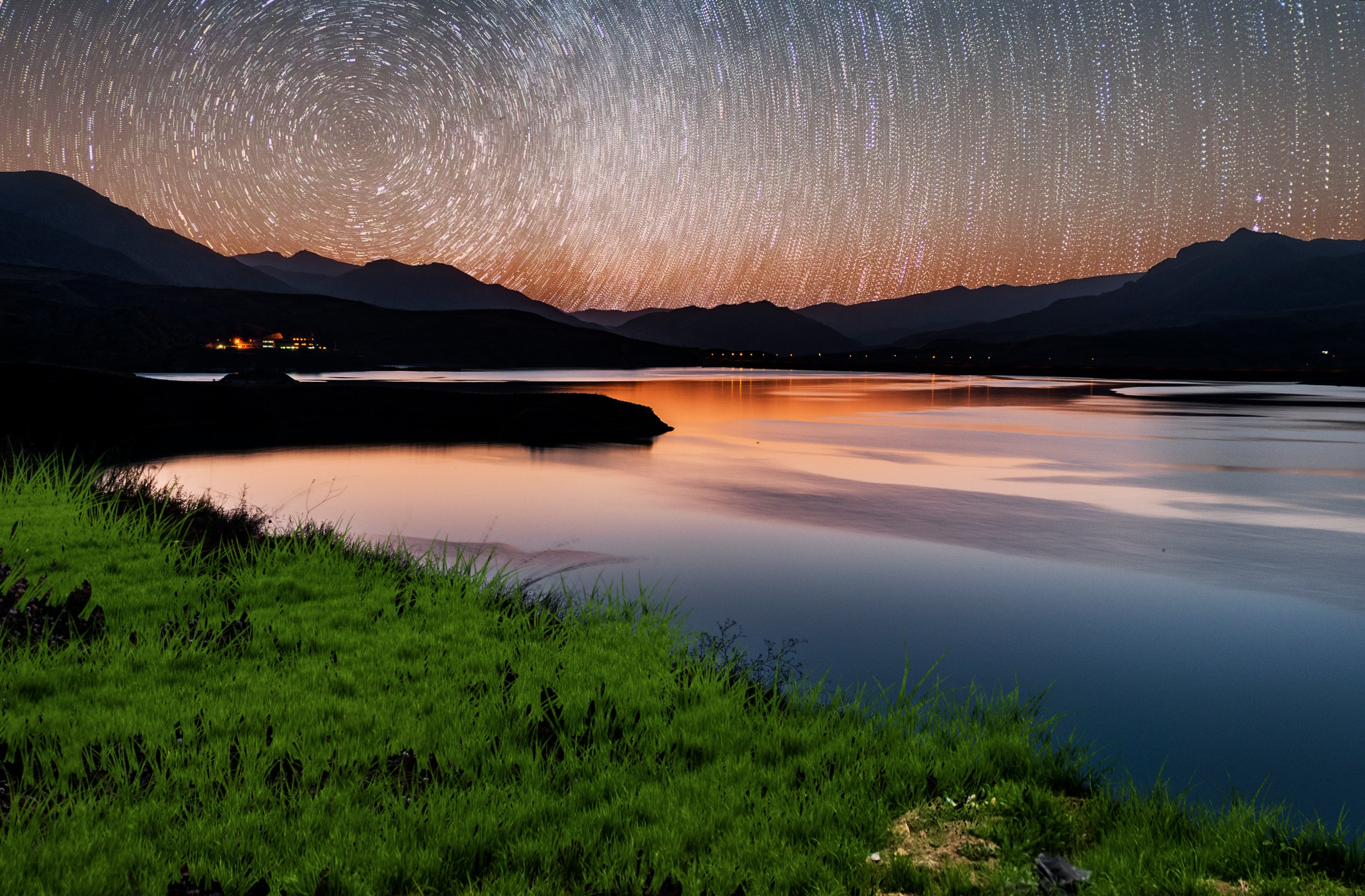Stars over the lake of Talaghan by Shahriar Dabiri