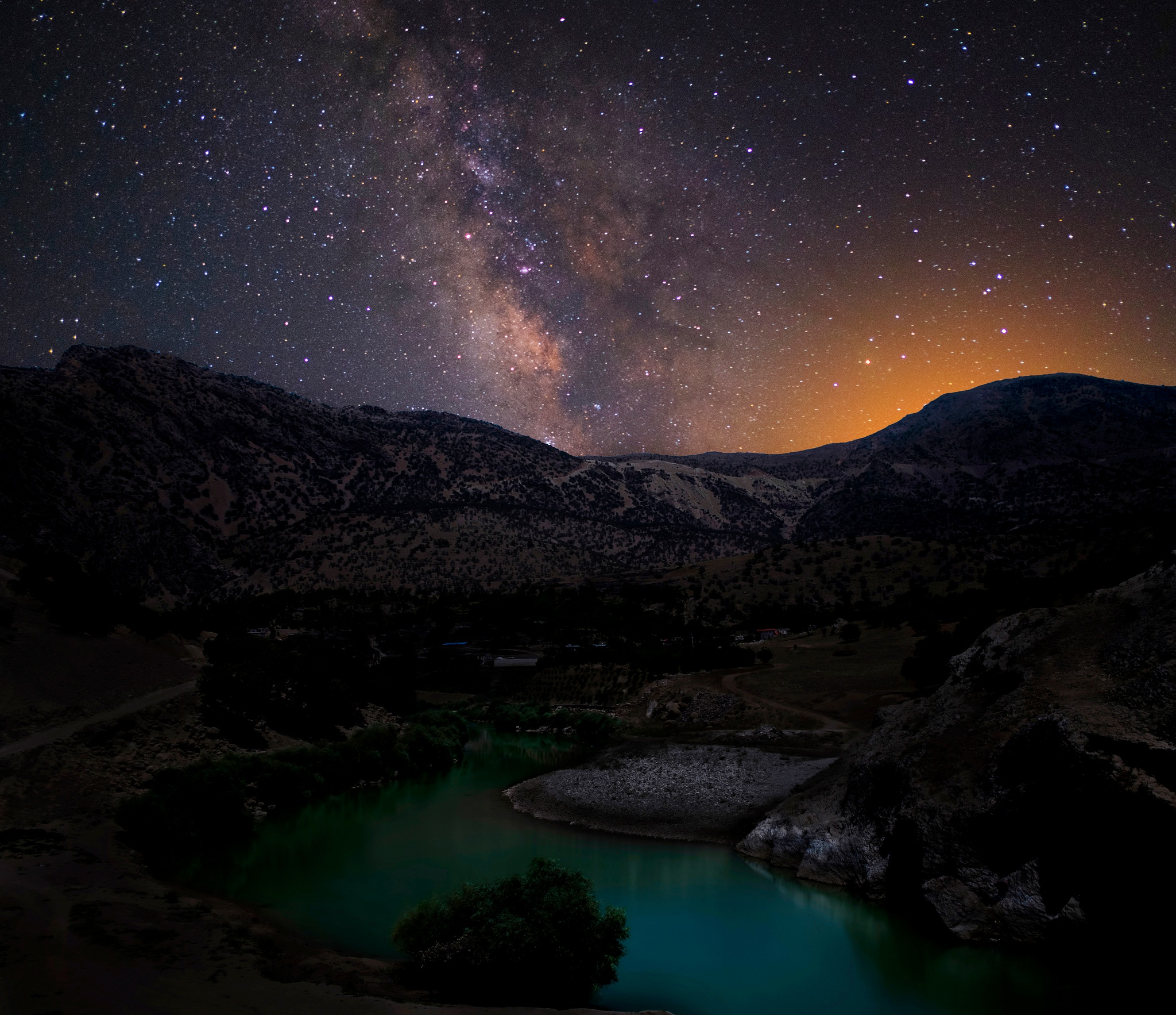 Milkyway over Arvand river by Shahriar Dabiri