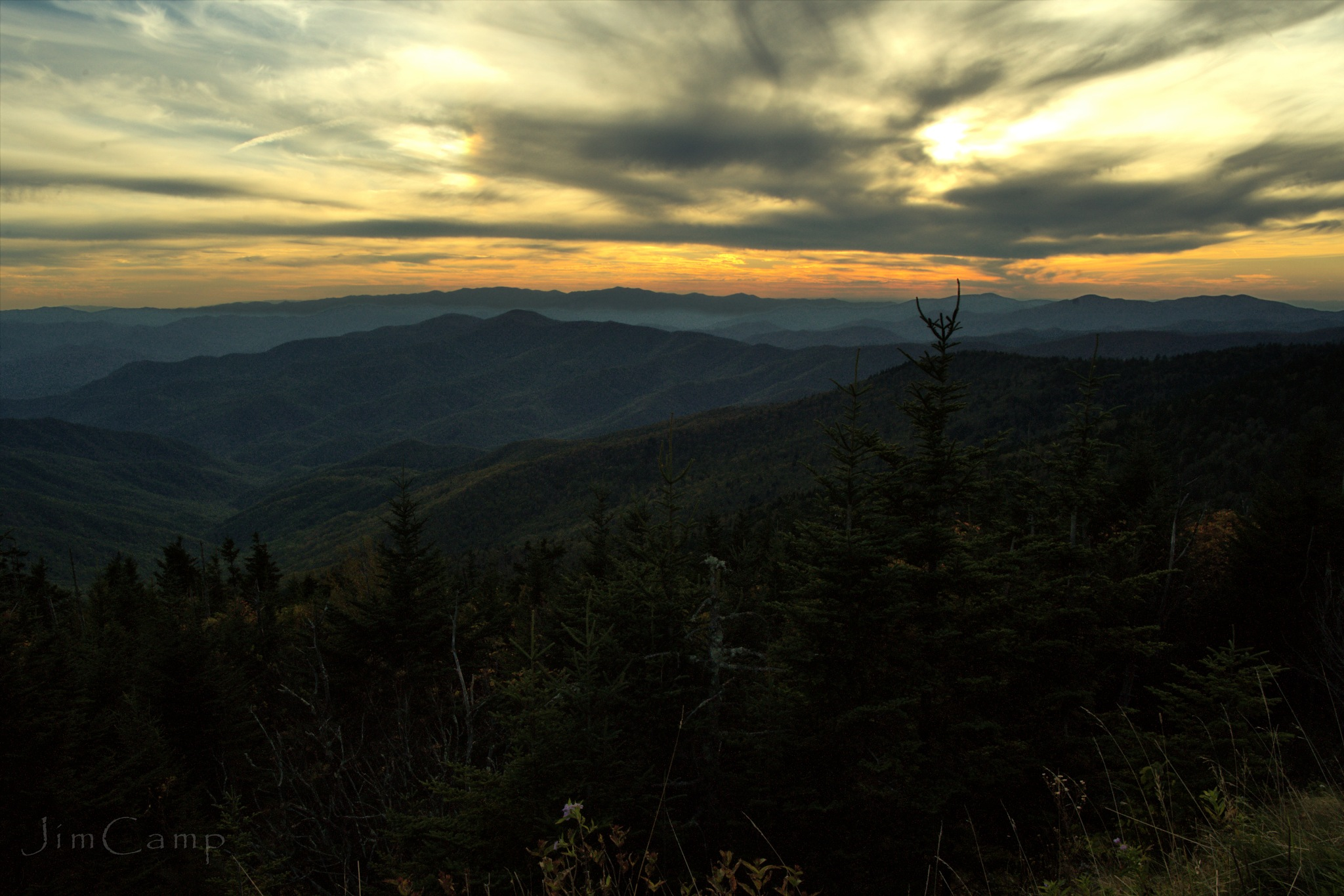 Smoky Mountains Sunset by Jim Camp