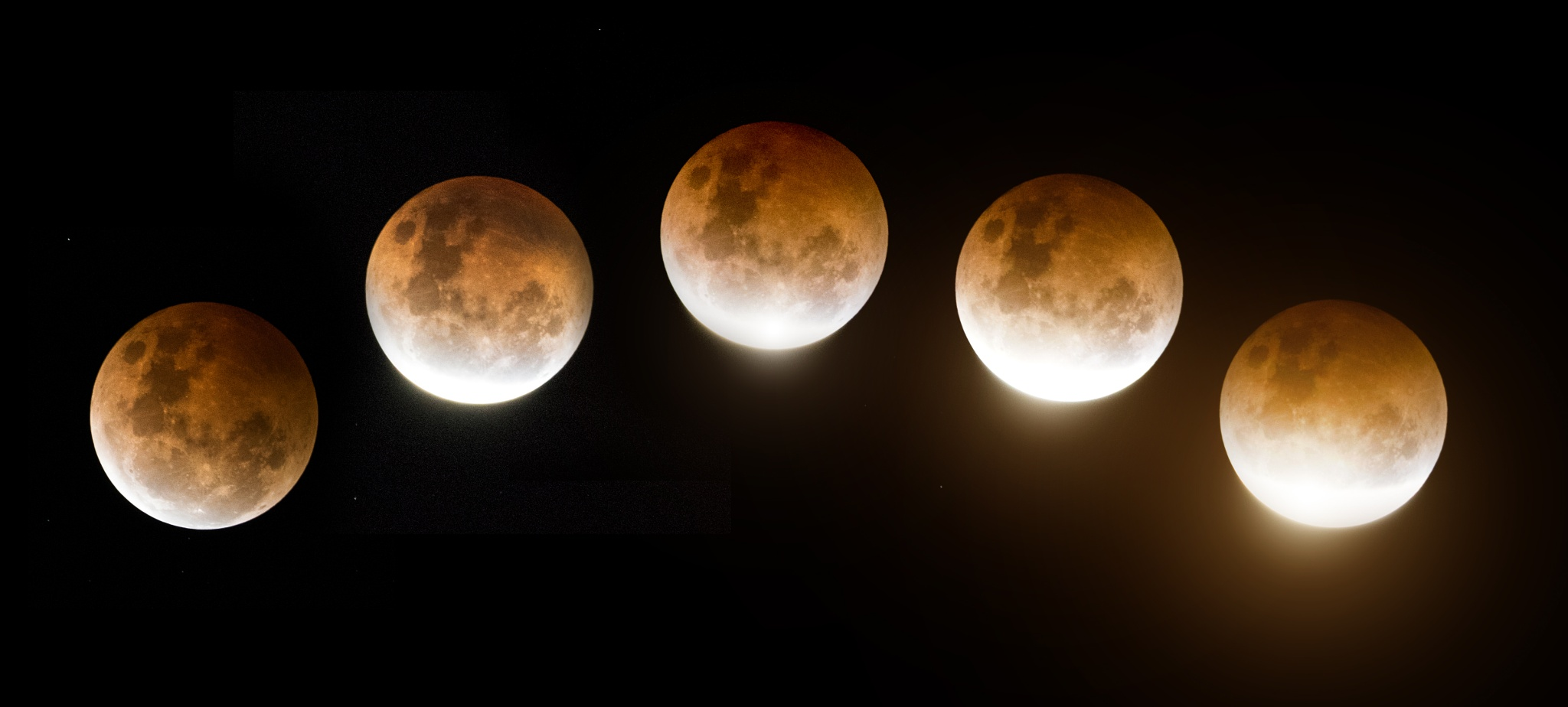 Red moon (Lunar Eclipse) by Gerald Grech