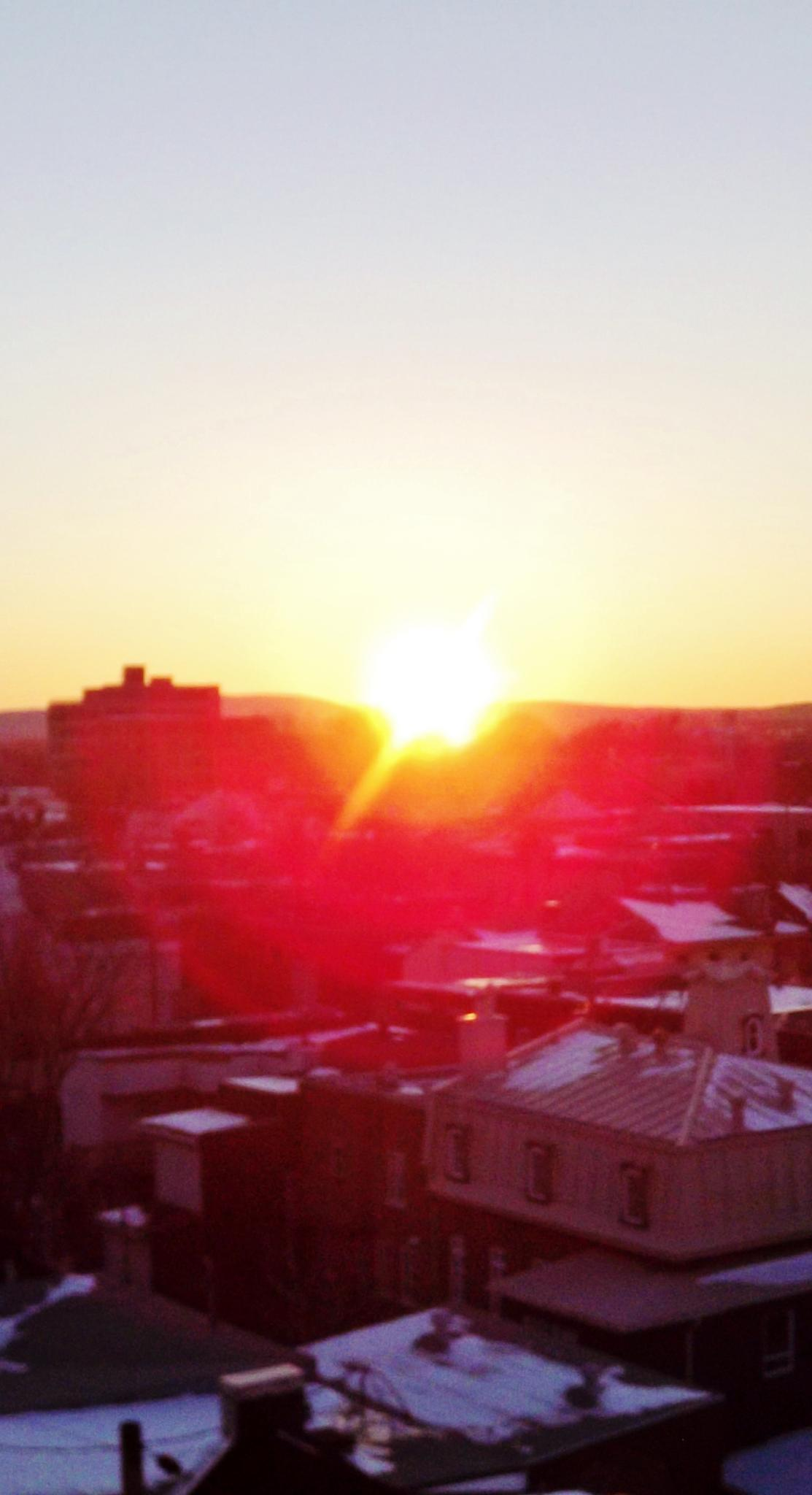 Yellow-red sunset on Quebec city by real.michaud.5036