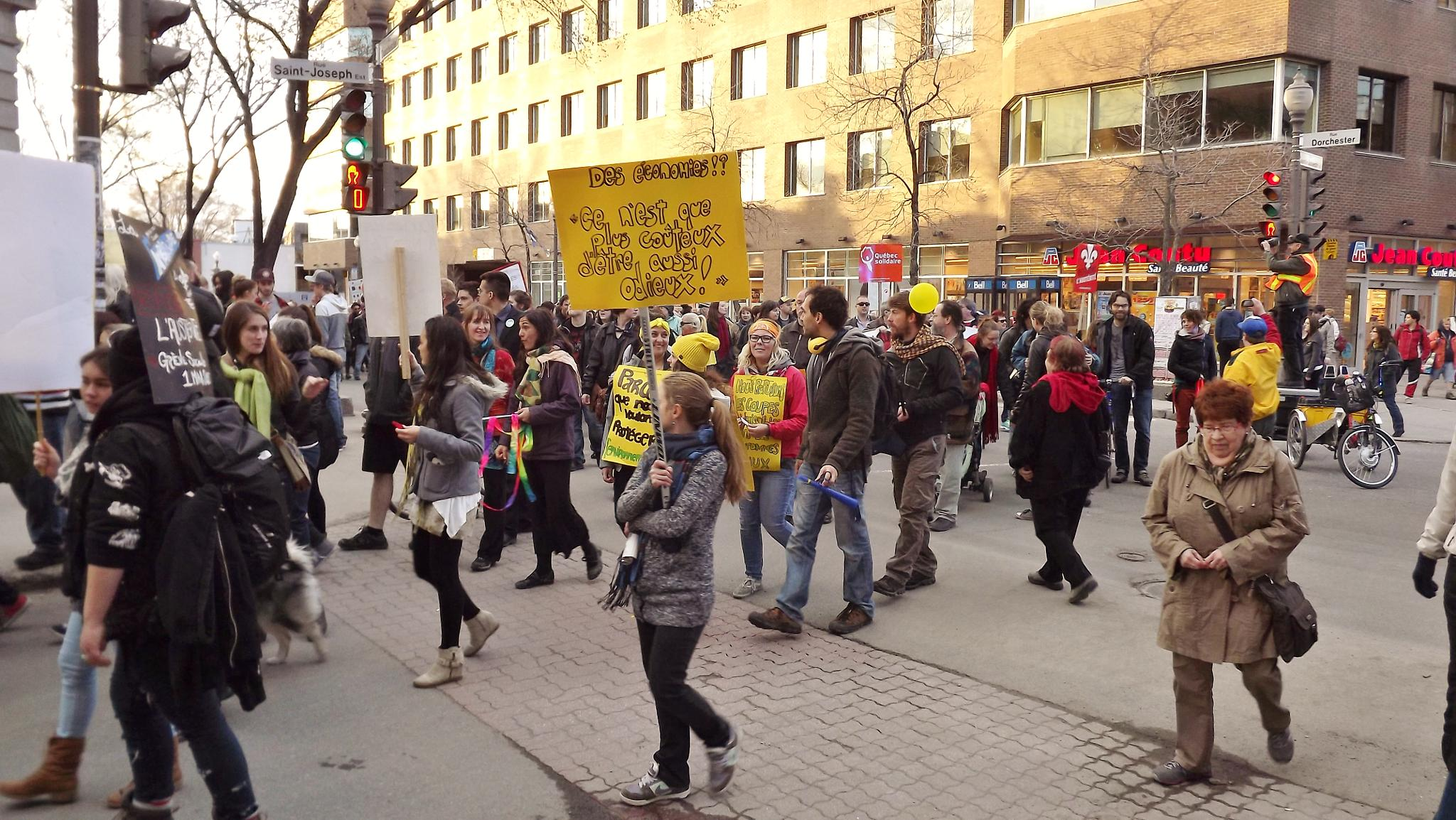 Walkers against auterity & social justice by real.michaud.5036