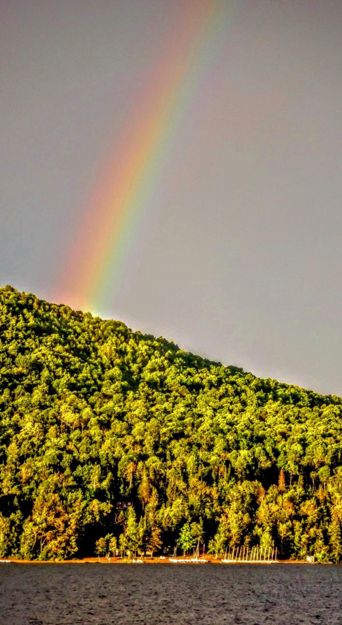 Rainbow on mountain by real.michaud.5036