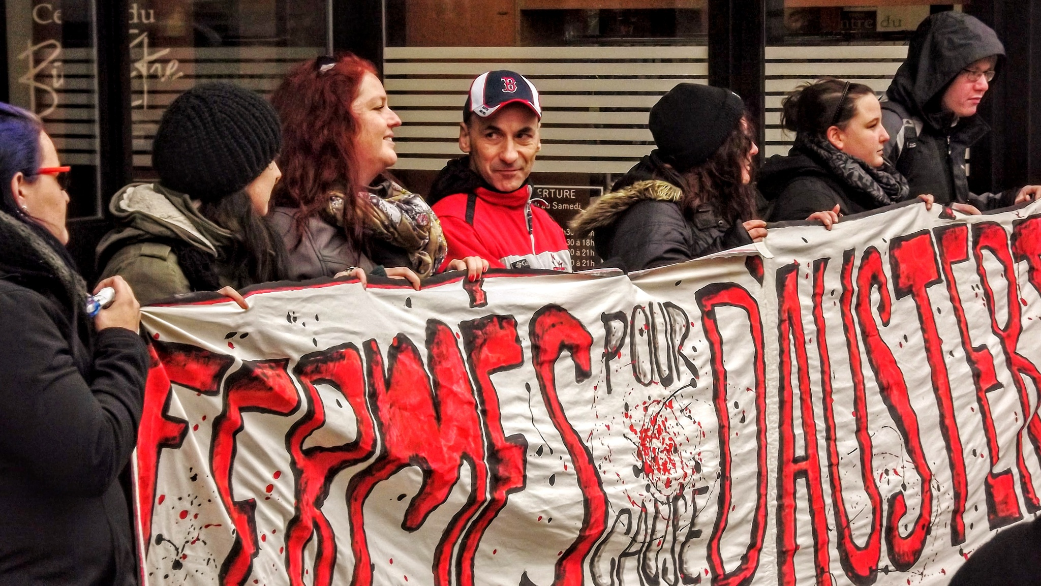 On strike in front of the bank by real.michaud.5036