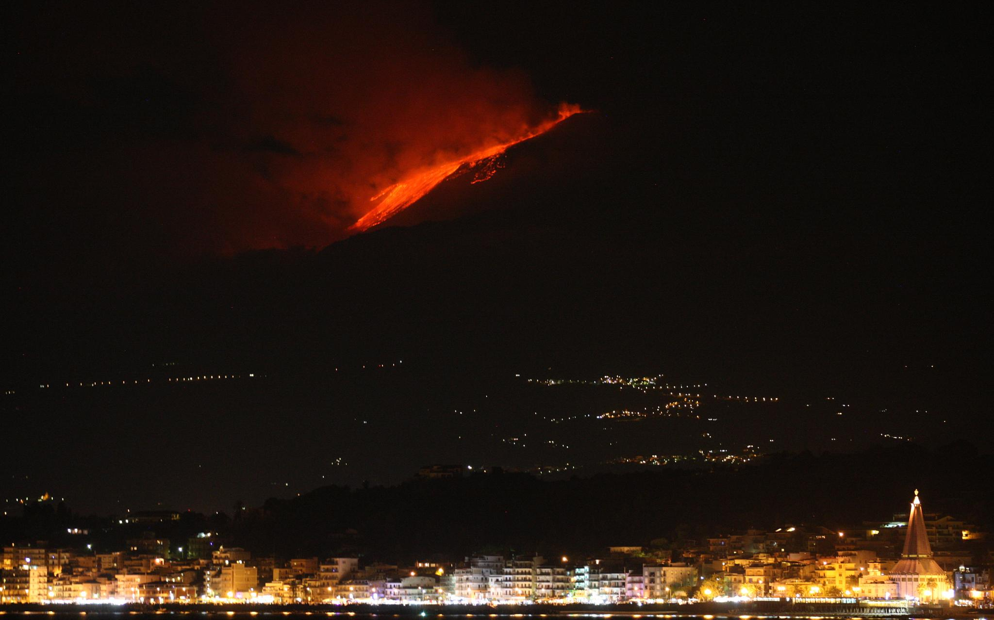 Etna at Night by Mark Rupert