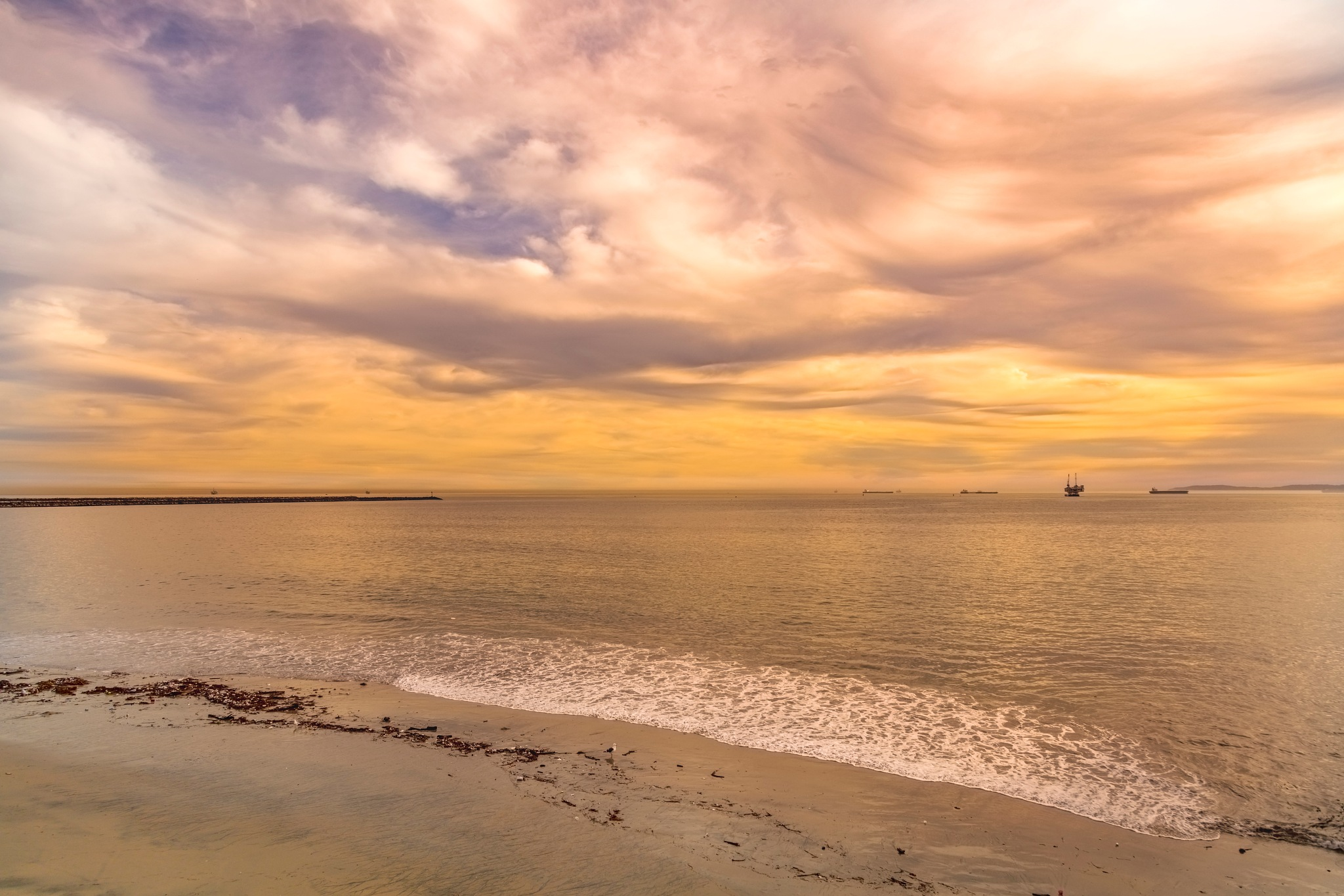 Port Entry at Sunset  by Janet Aguila Krause