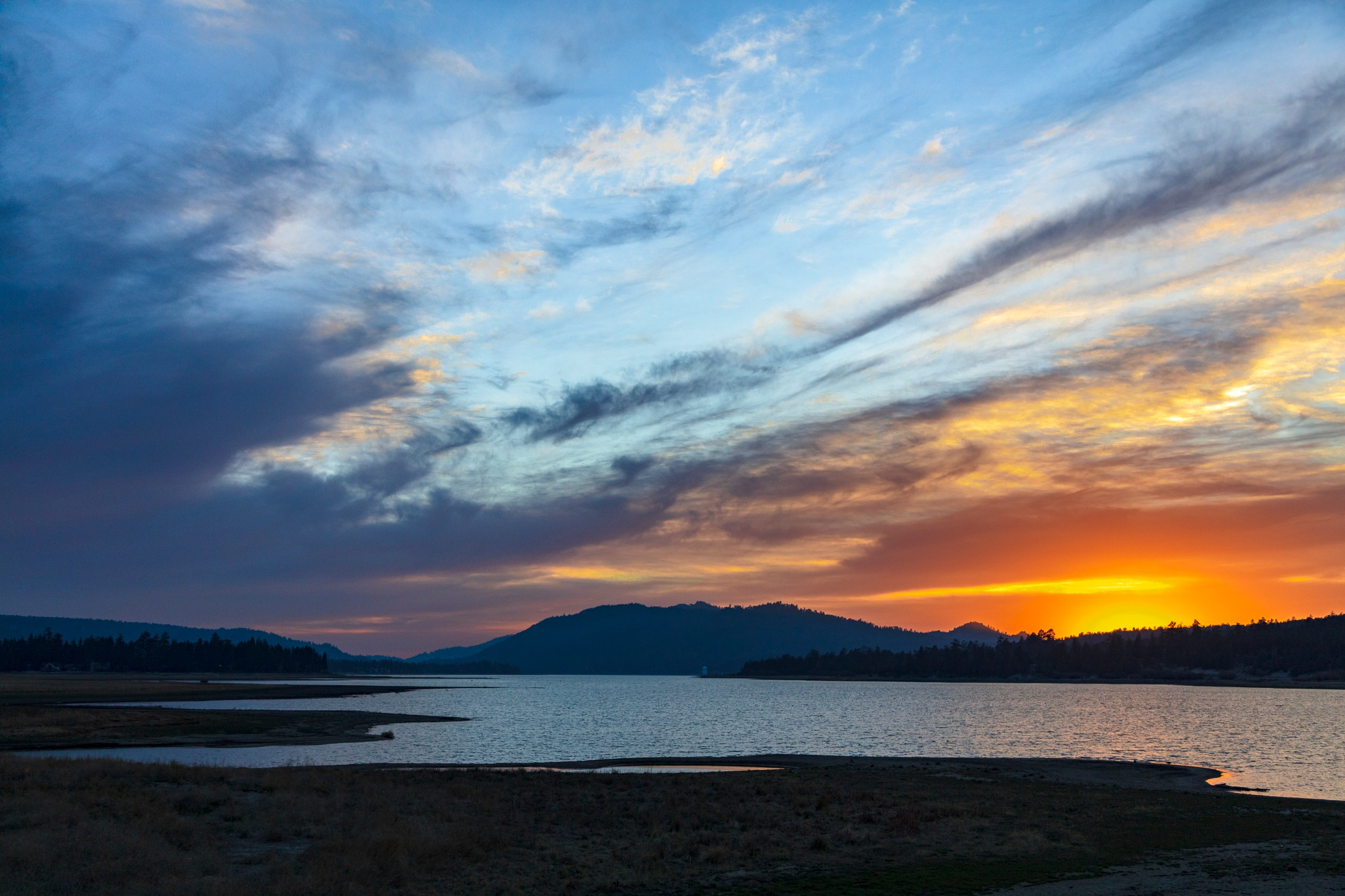 Big Bear Sunset  by Janet Aguila Krause