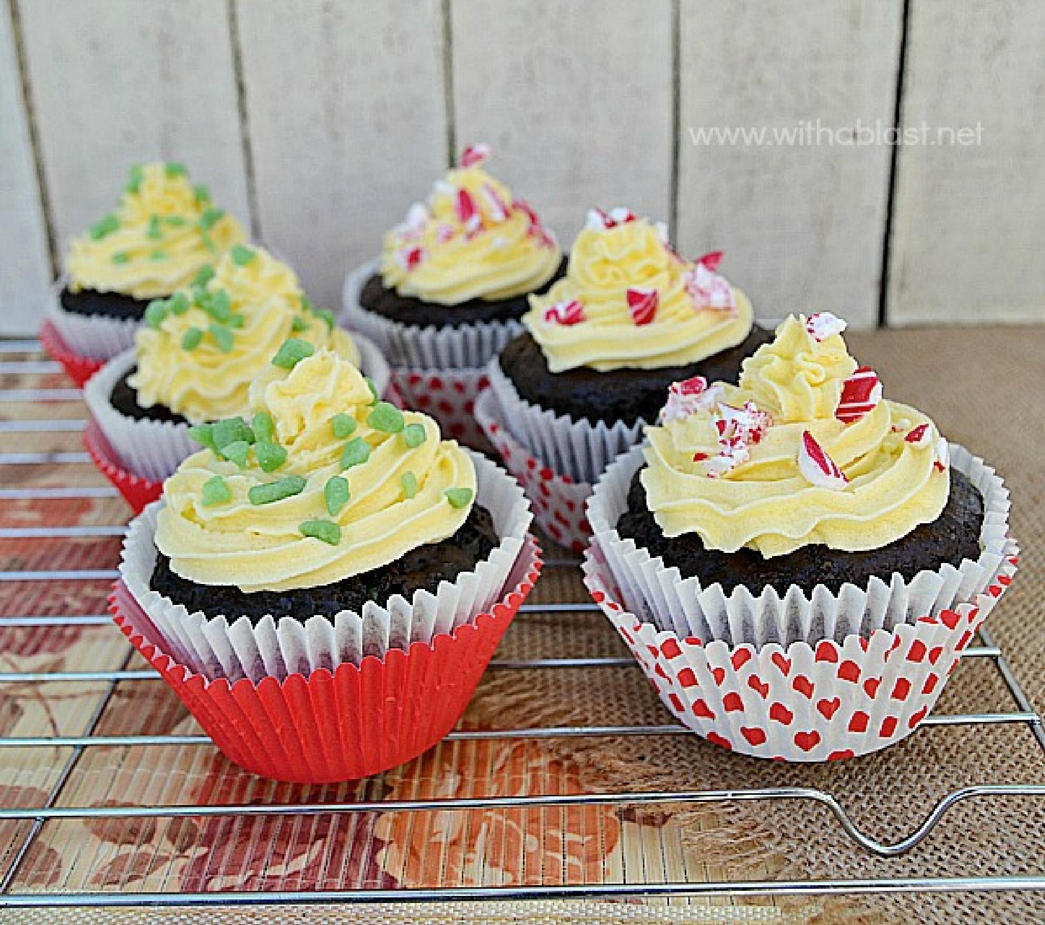 Peppermint Chocolate Cupcakes by Linda Nortje