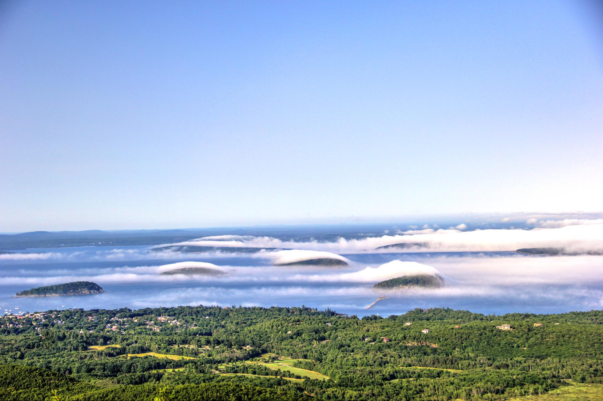 Islands in Fog by Peggy Berger