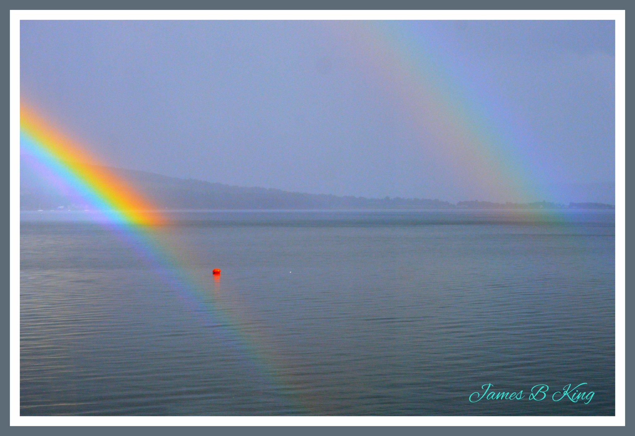 Delightful Double Rainbow by James Bullis-King