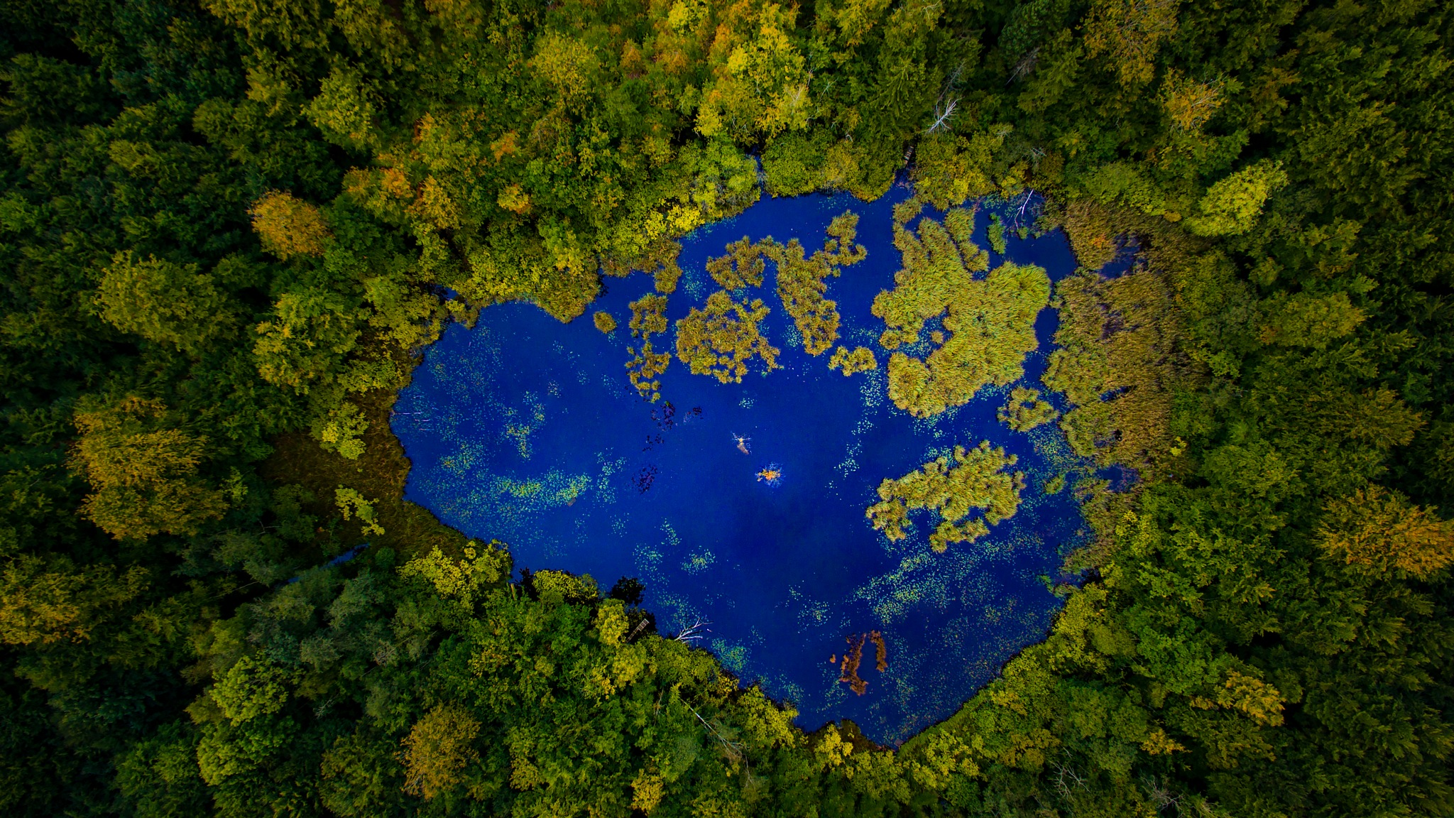 Azurite pond by Michael B. Rasmussen